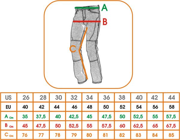 miniatuur 6 - Pantaloni Impermeabile Moto Imbottitura Termica Estraibile Traspirante Cordura