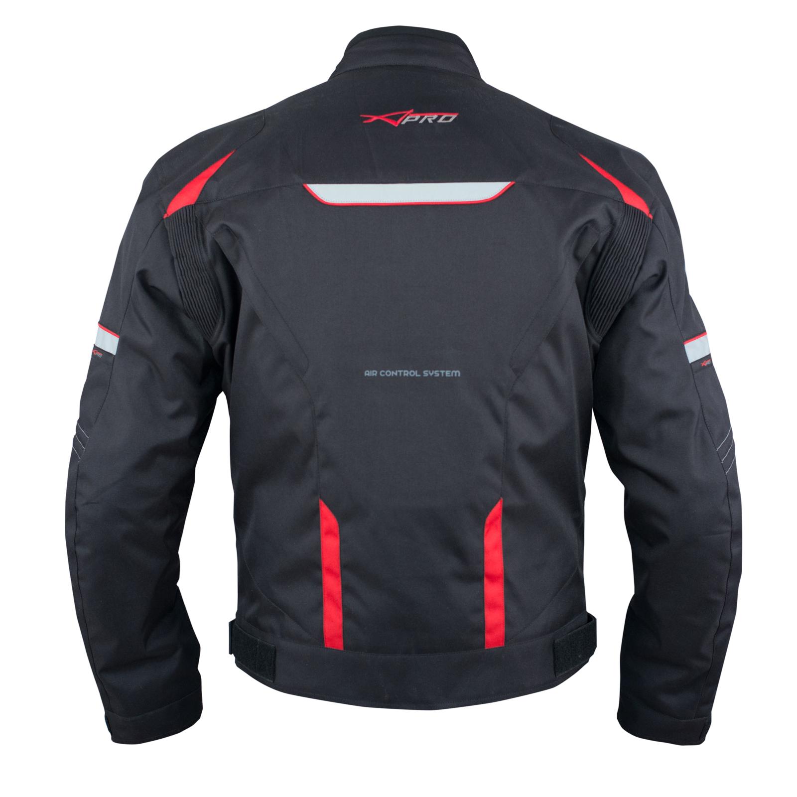Giacca-Moto-Sport-Tessuto-Protezioni-CE-Impermeabile-Ventilata-Regolabile