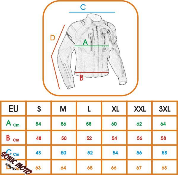 Giacca-Moto-Tessuto-Sport-Protezioni-CE-Riflettente-Ventilata-Impermeabile