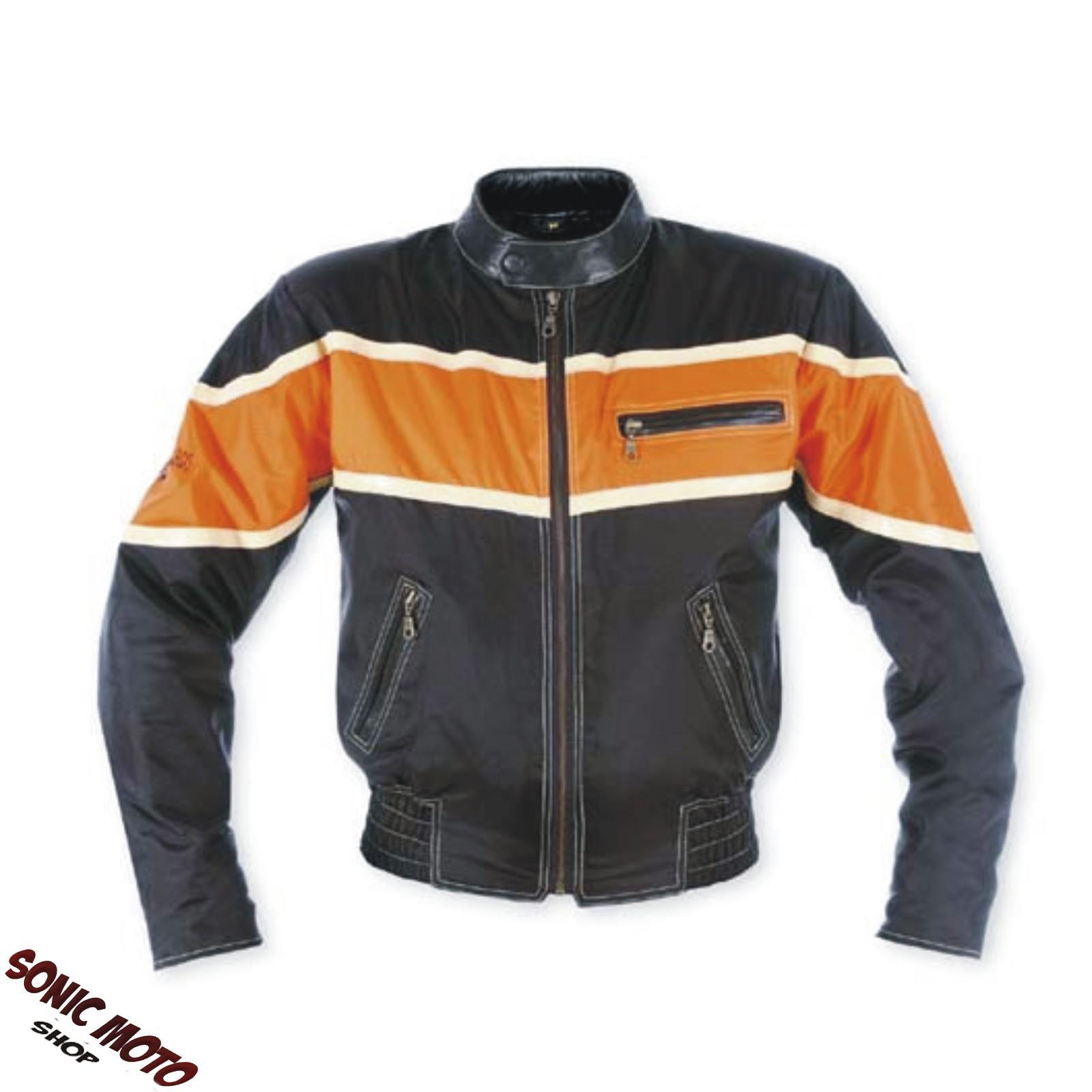 Giacca-Moto-Tessuto-Interno-termico-Custom-Chopper-Naked-Oxford-Nylon