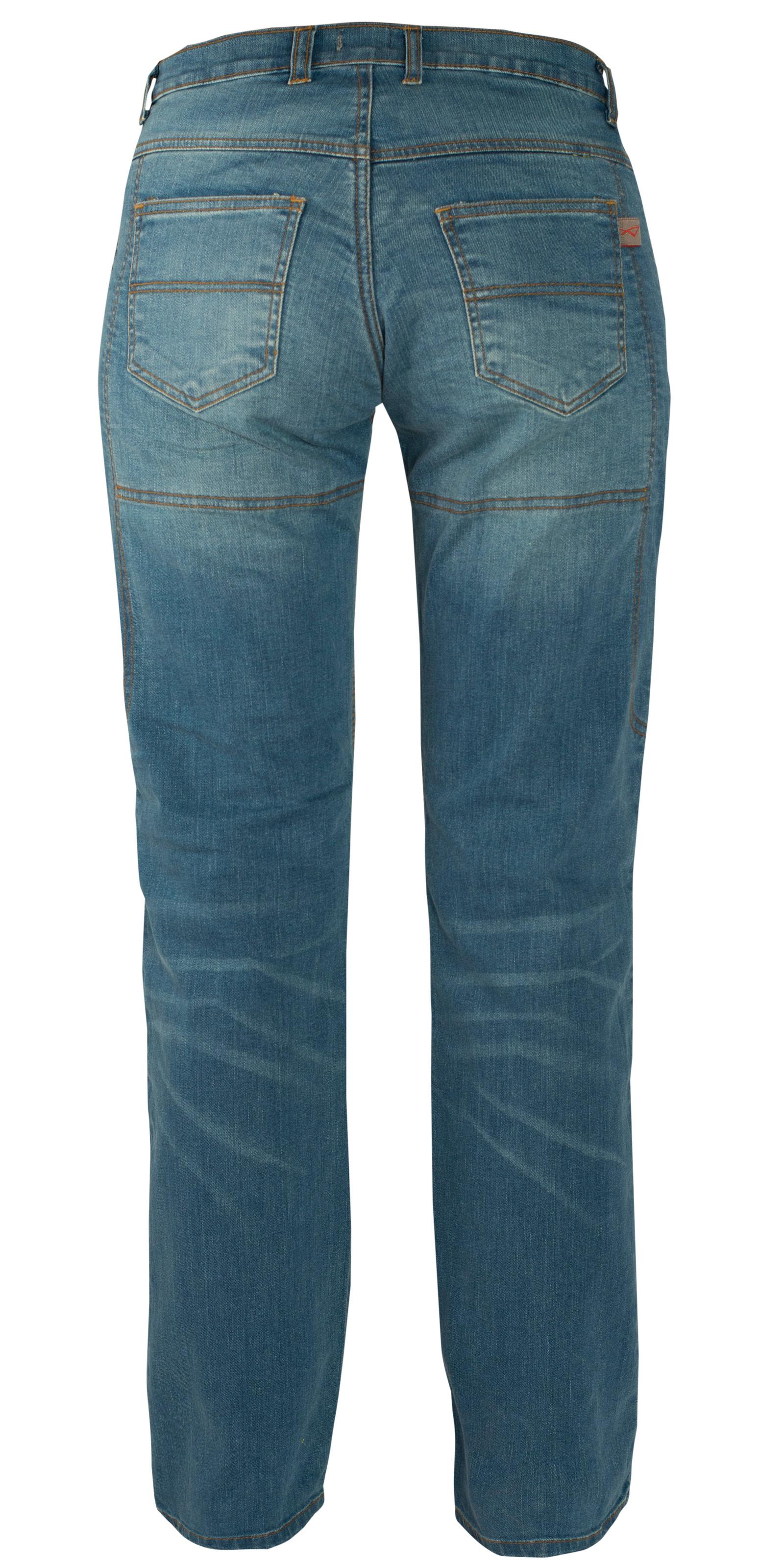 Pantalon-Femme-Jeans-Moto-Protections-Homologees-Renforts-Bleu miniature 7
