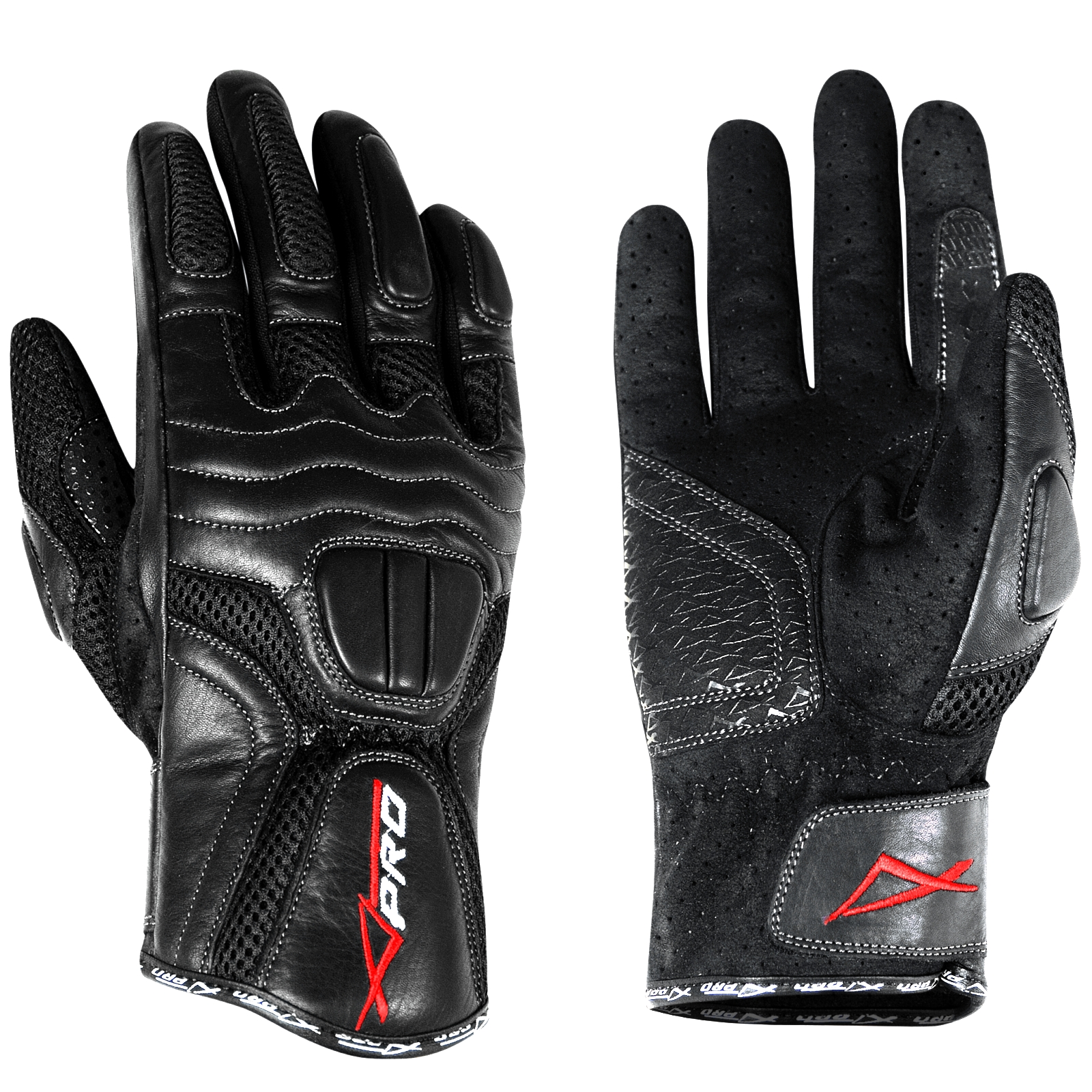 Sport Gloves Opskins: Textile Leather City Touring Lined Motorcycle Apparel