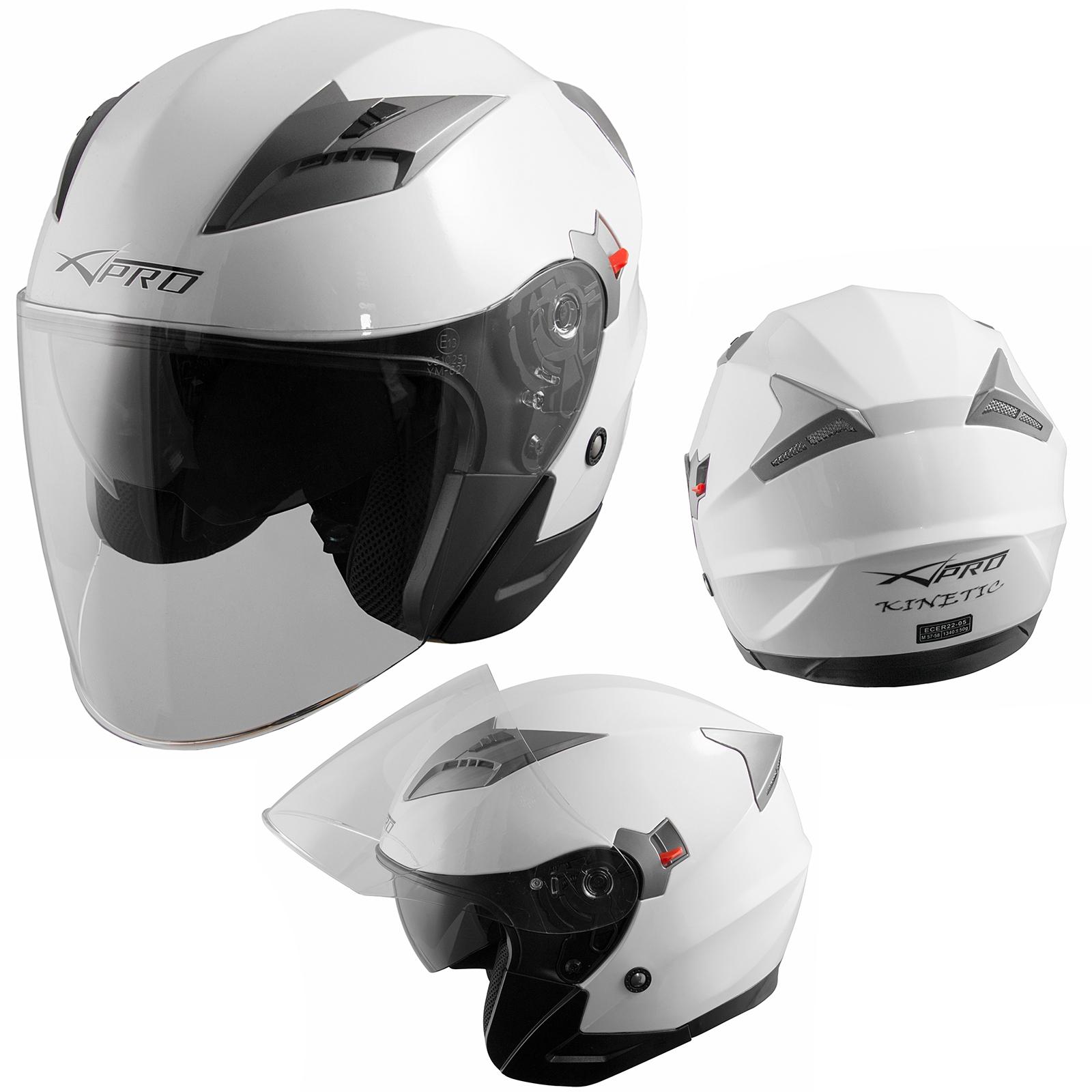 Demi-Jet-Casque-Visiere-Pare-Soleil-ECE-22-05-Approuve-Moto-Scooter