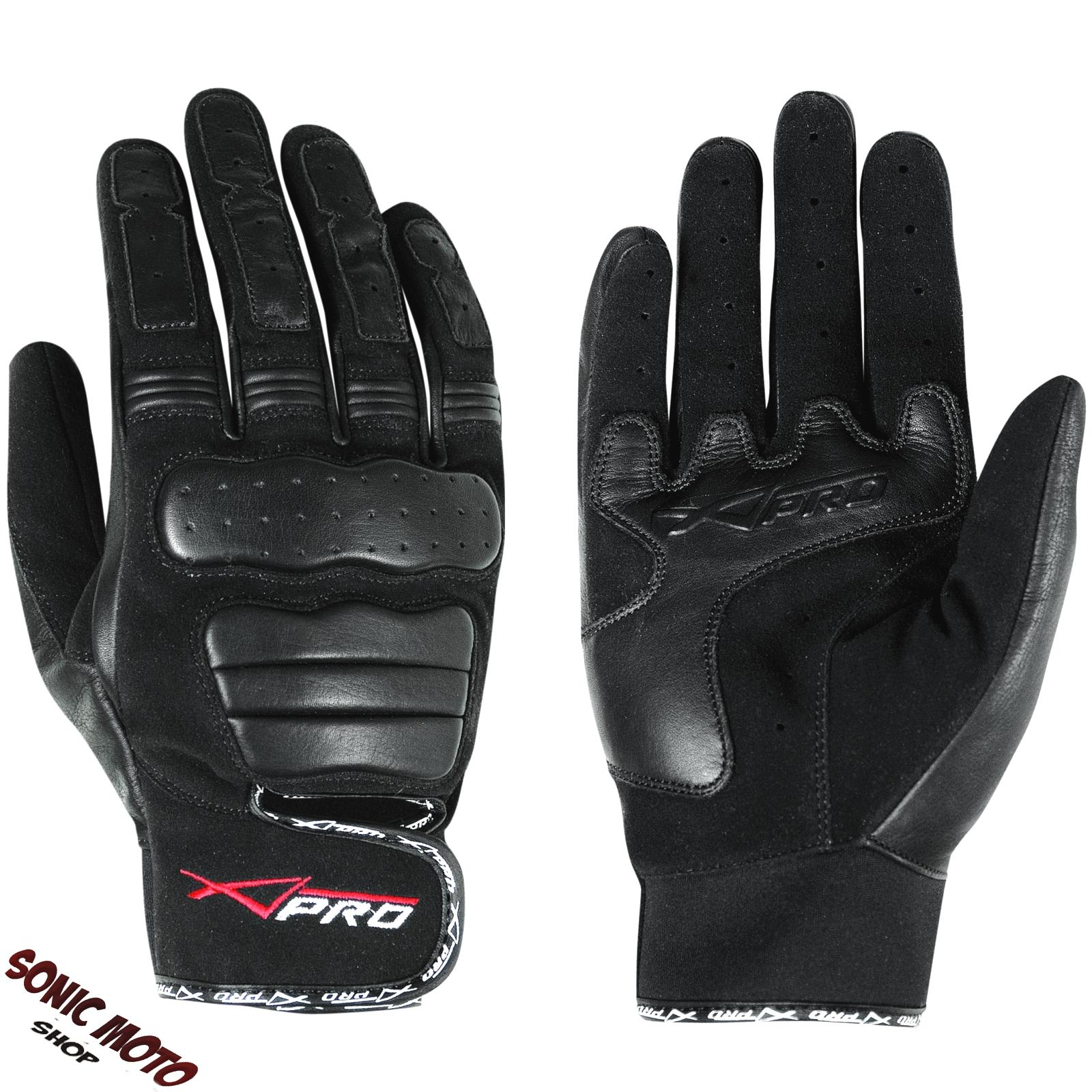 et gants courts cuir tissu moto scooter protections motard tex ebay. Black Bedroom Furniture Sets. Home Design Ideas