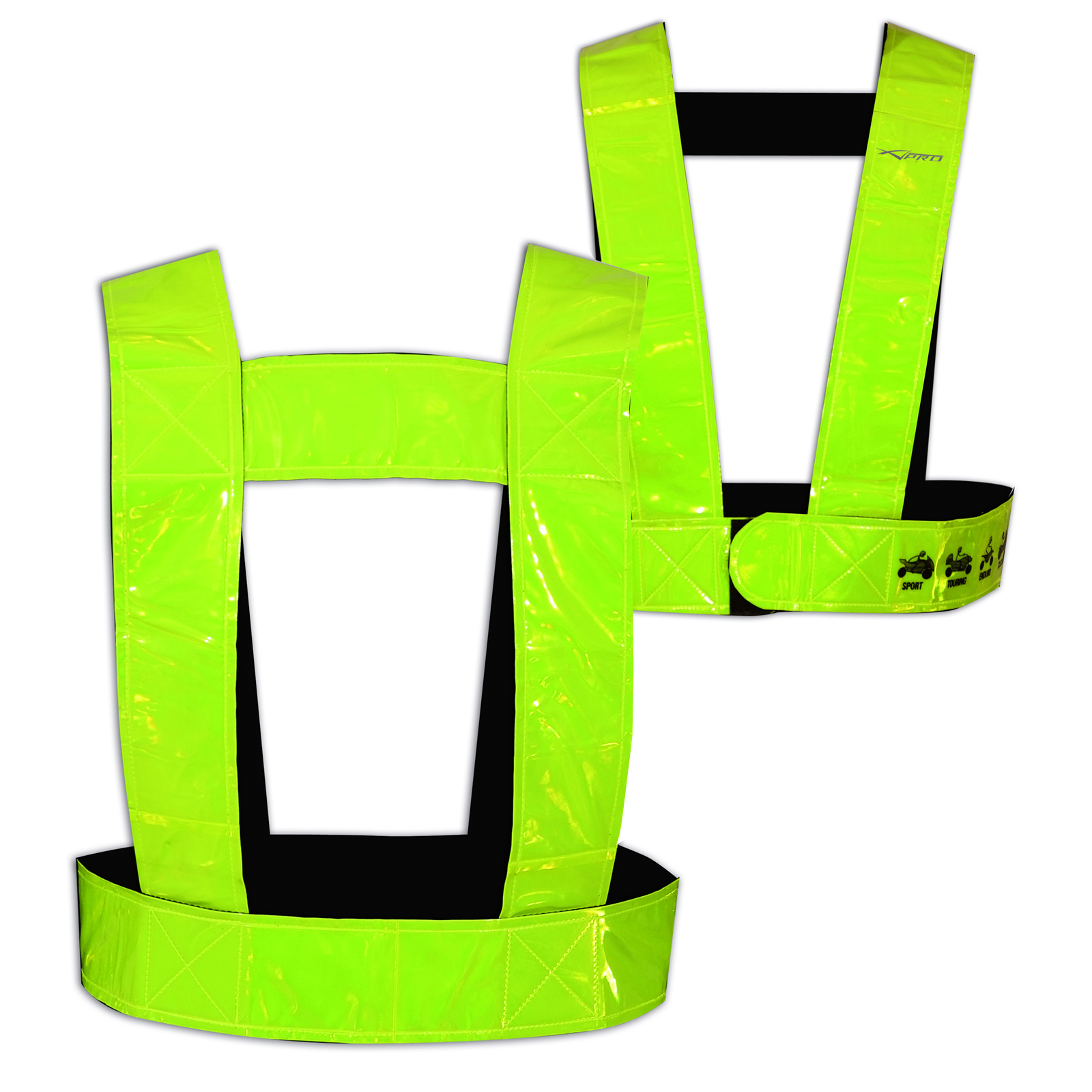 hi vis bright belt reflective fluorescent motorbike motorcycle cycle bike ebay. Black Bedroom Furniture Sets. Home Design Ideas