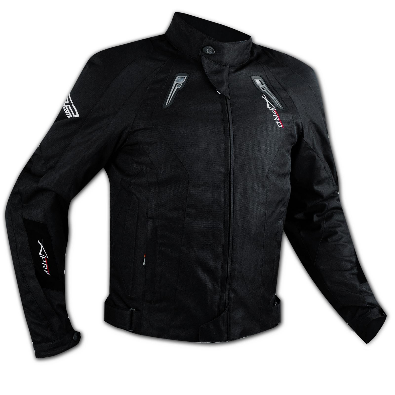 eb8cb6de298 Detalles de Chaqueta de Cordura Moto tela transpirable Chaleco térmica  protectores CE Negro