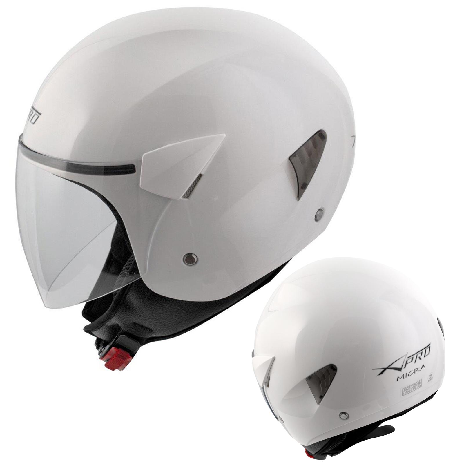 Casque-Moto-Scooter-Ville-Jet-Visiere-Longue-Approuve-ECE-22-05-Blanc