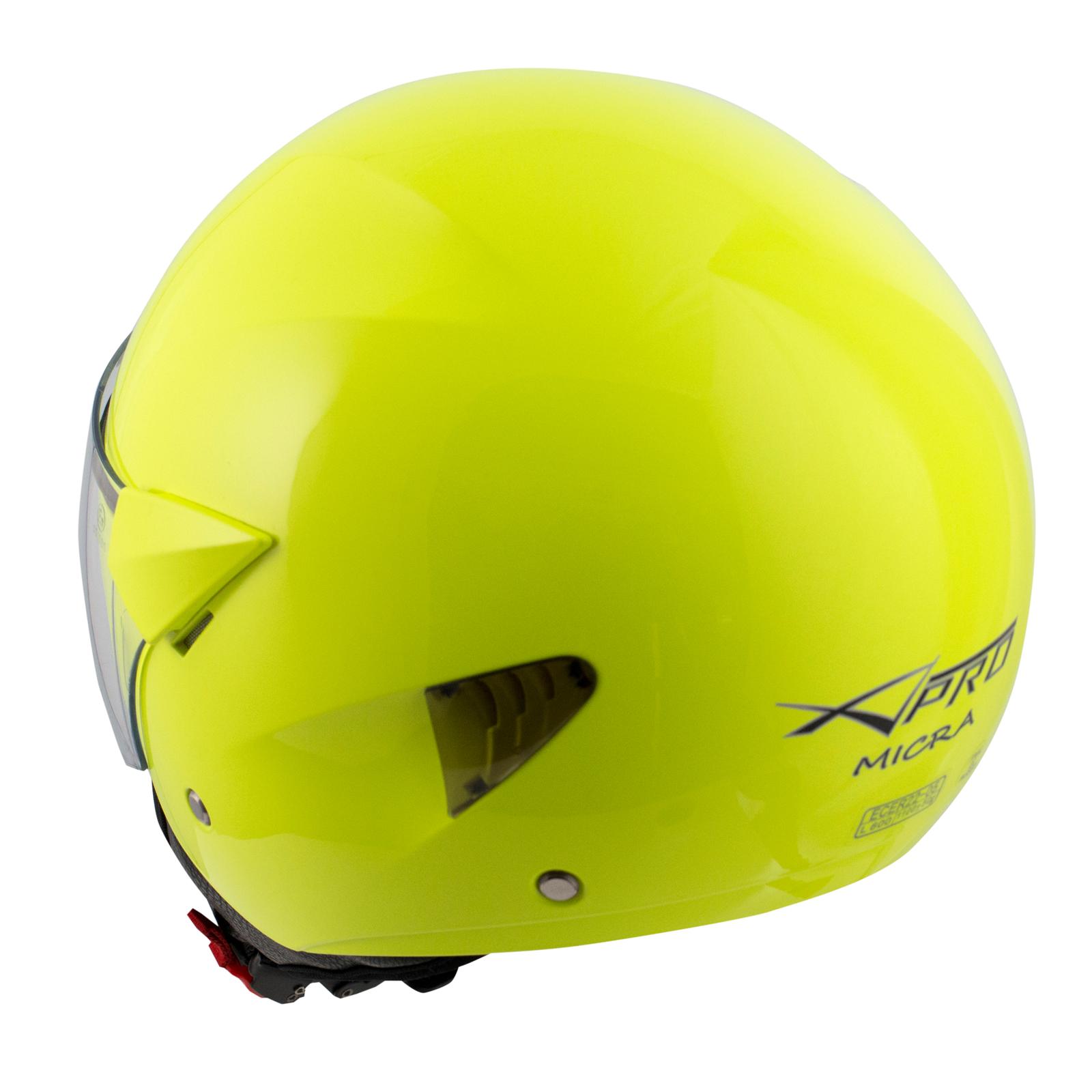 Casque-Moto-Scooter-Ville-Jet-Visiere-Longue-Approuve-ECE-22-05-Fluo