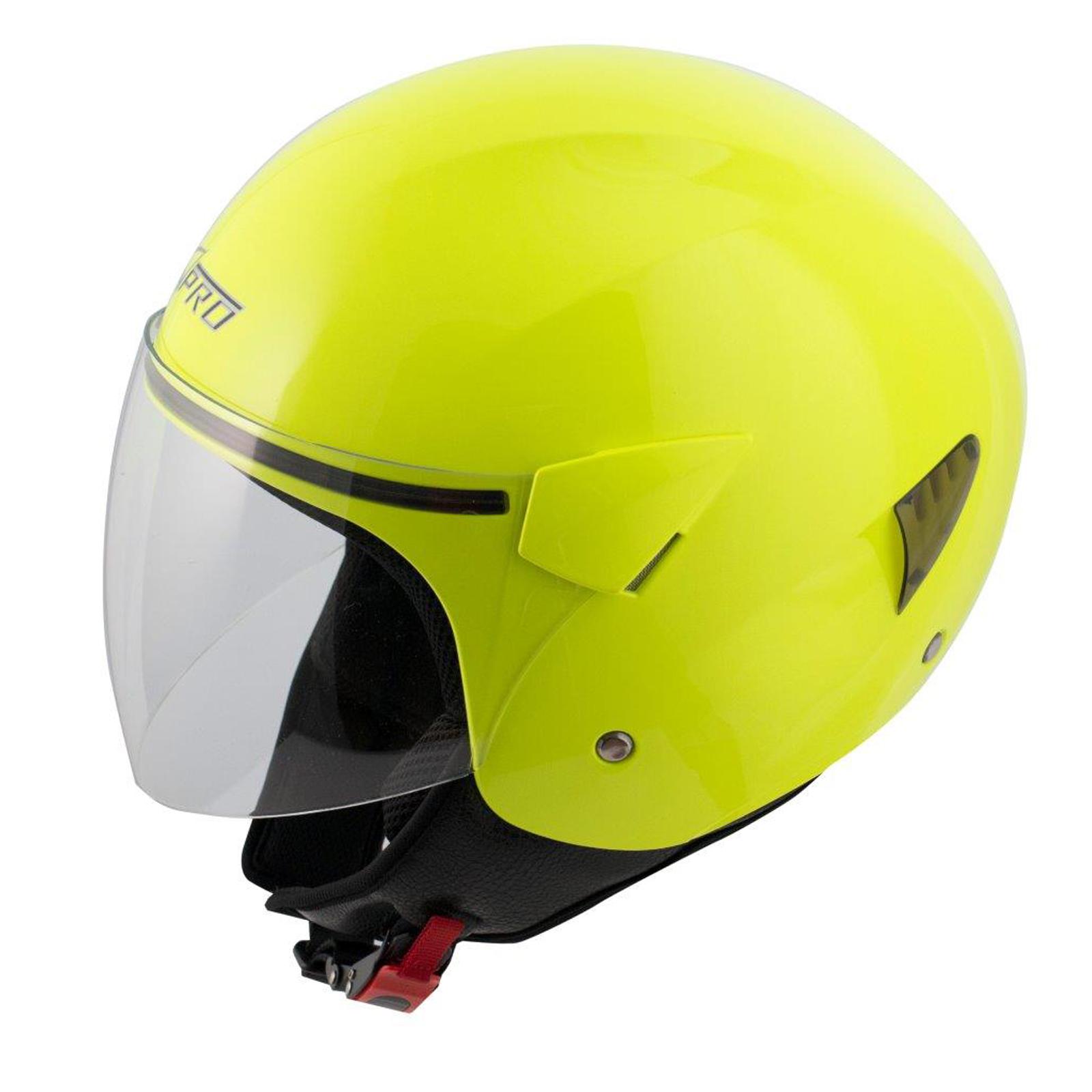 Casque-Moto-Scooter-Ville-Jet-Anti-Scratch-Visiere-Longue-Approuve-ECE-22-05 miniature 12