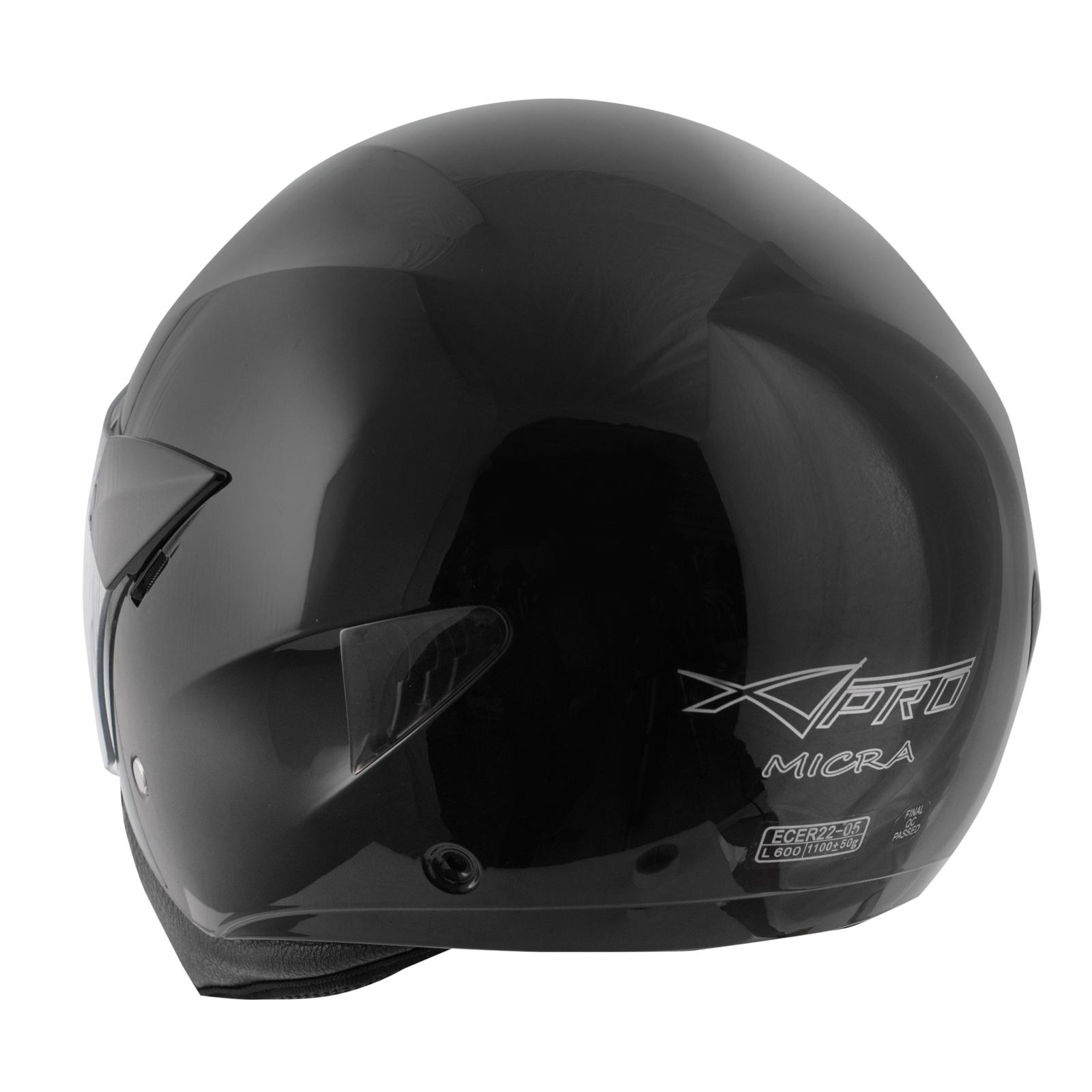 Casque-Moto-Scooter-Ville-Jet-Visiere-Longue-Approuve-ECE-22-05-Noir