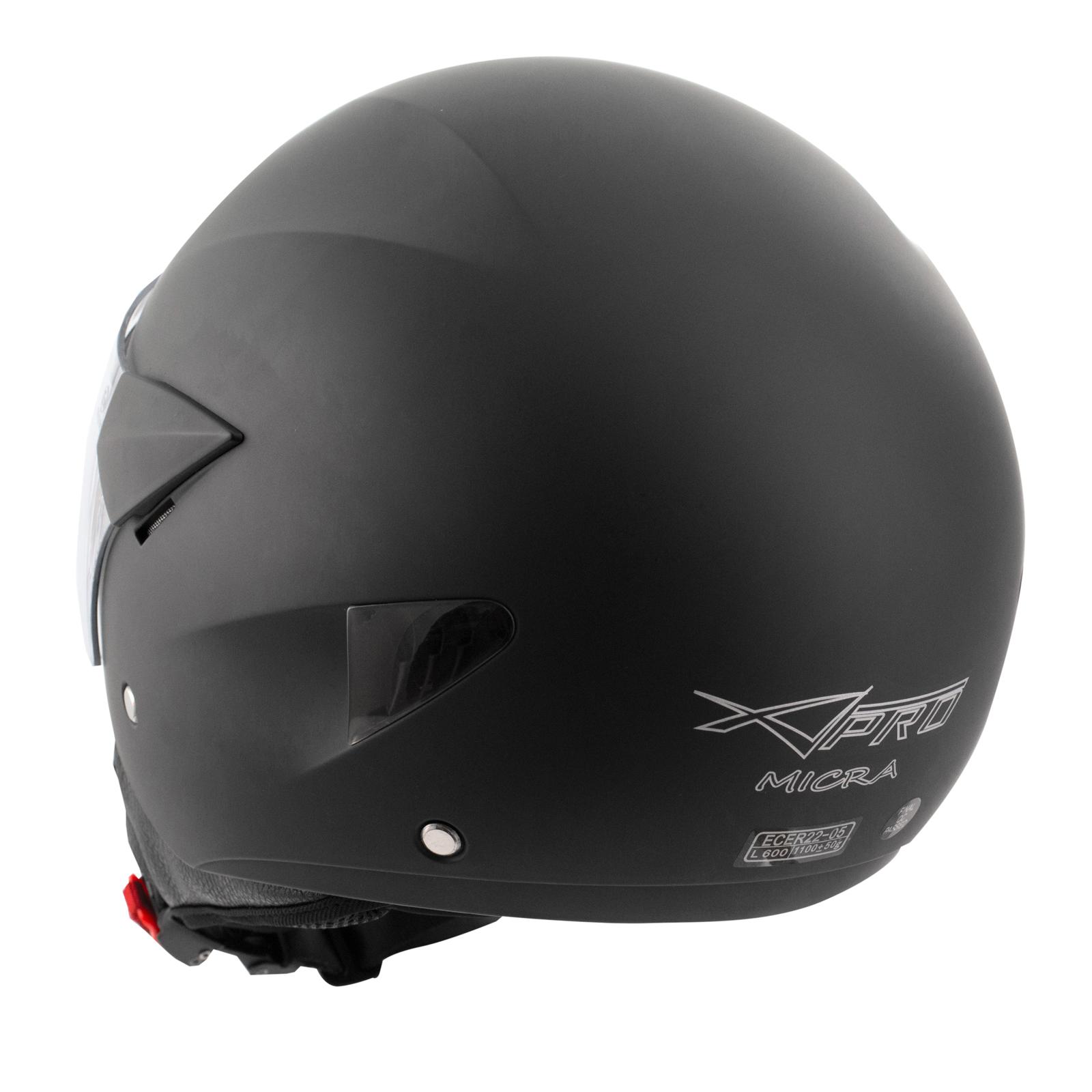 Casque-Moto-Scooter-Ville-Jet-Anti-Scratch-Visiere-Longue-Approuve-ECE-22-05 miniature 15