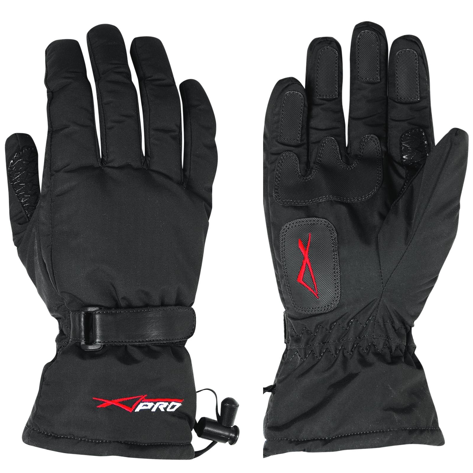 Guanto-Scooter-Cordura-Imbottito-Invernale-Moto-Tessuto-Morbido-Impermeabile
