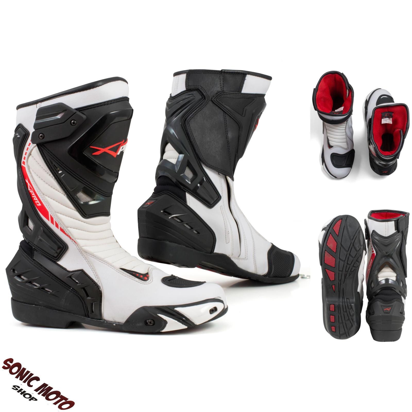 Stivali-Moto-Sport-Racing-Pista-Strada-Tecnico-Microfibra