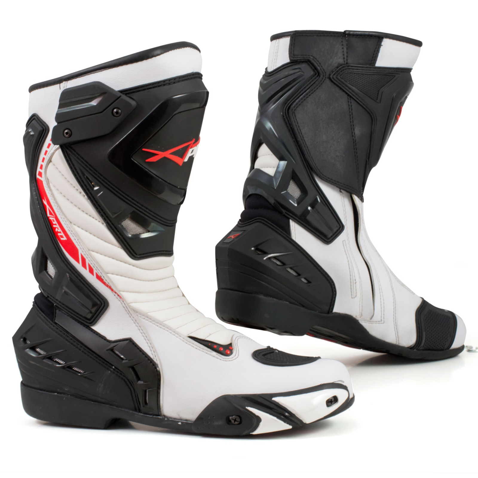 bottes moto sport racing piste strada technique microfibre blanc ebay. Black Bedroom Furniture Sets. Home Design Ideas