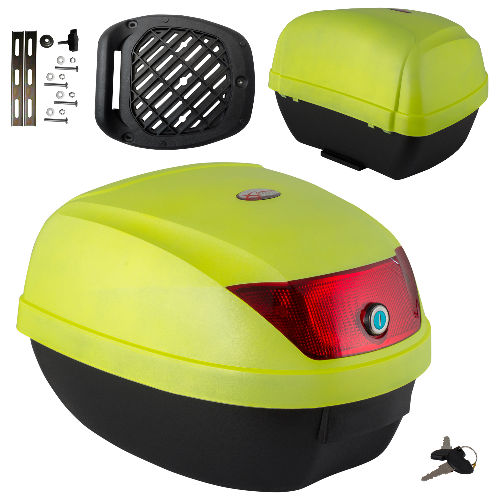 universal motorcycle motorbike scooter box top case box. Black Bedroom Furniture Sets. Home Design Ideas