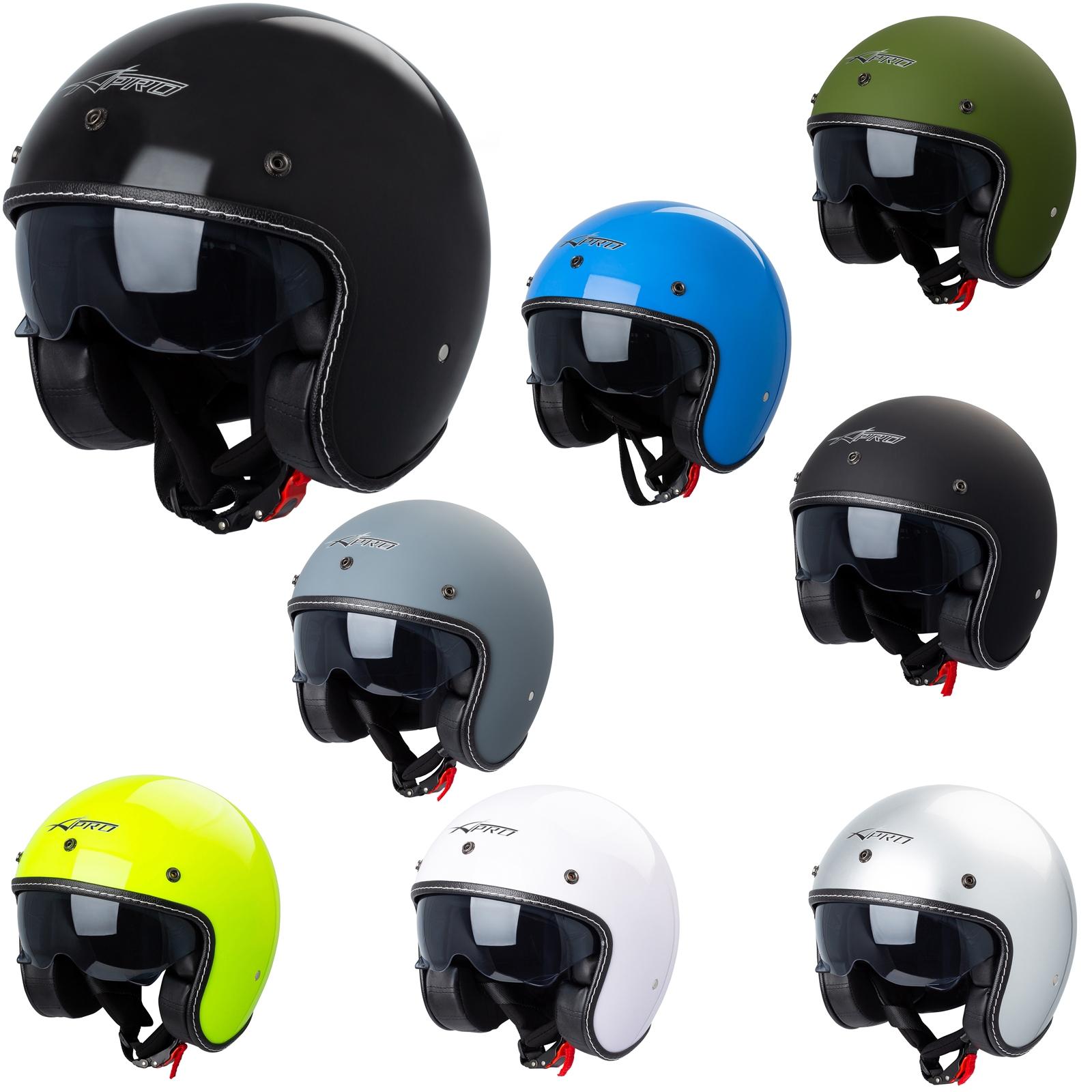 Scooter Bikers Rollerhelm mit Doppelvisier Frauen Integralhelm Motorrad Helm f/ür M/änner