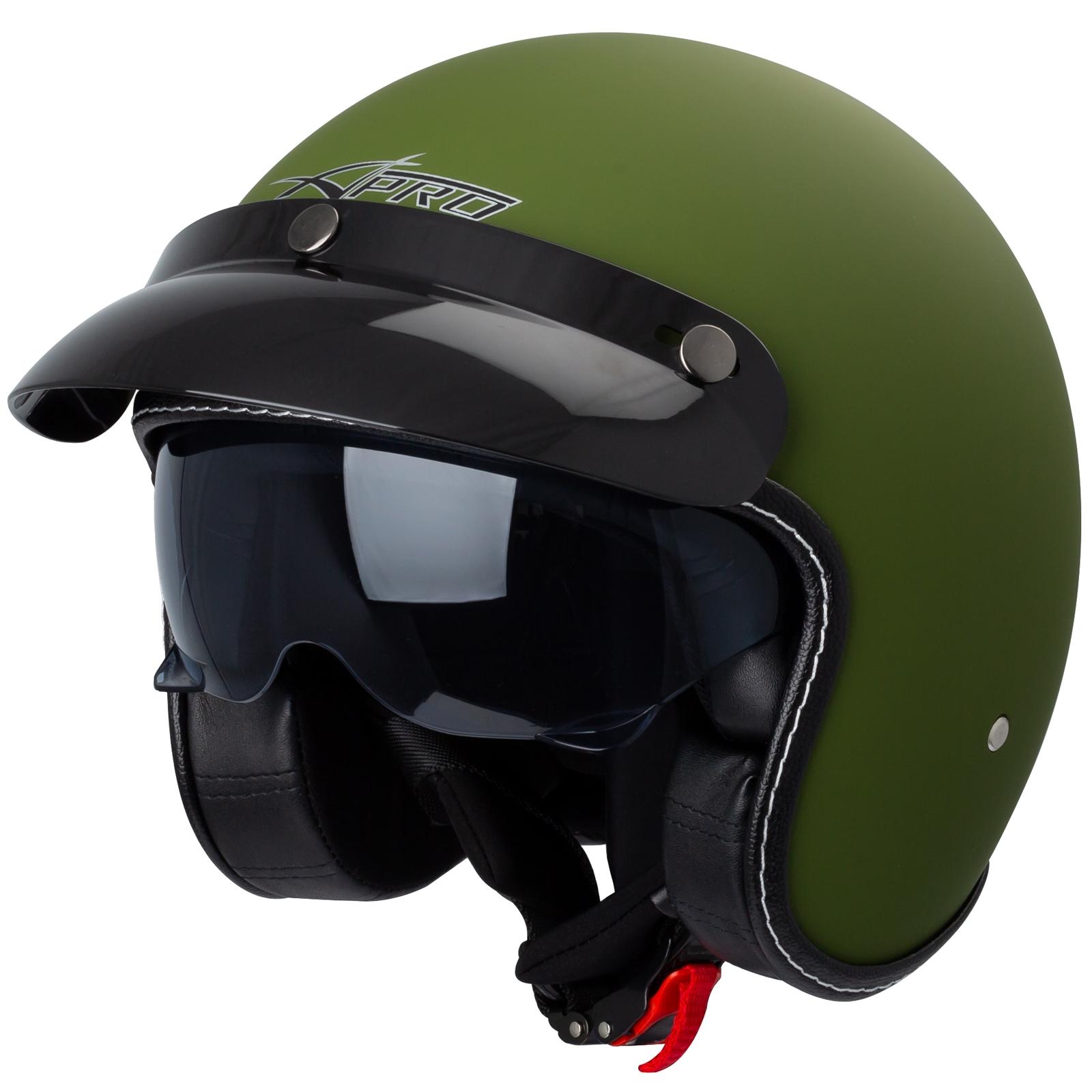 Casco-Moto-Jet-Cafe-Racer-Omologato-ECE-22-05-Parasole-scooter miniatuur 3