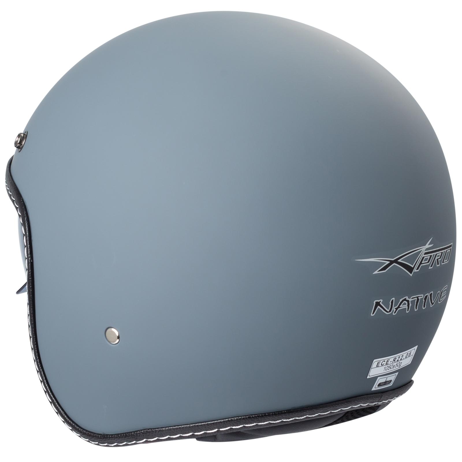 Casco-Moto-Jet-Cafe-Racer-Omologato-ECE-22-05-Parasole-scooter miniatuur 27