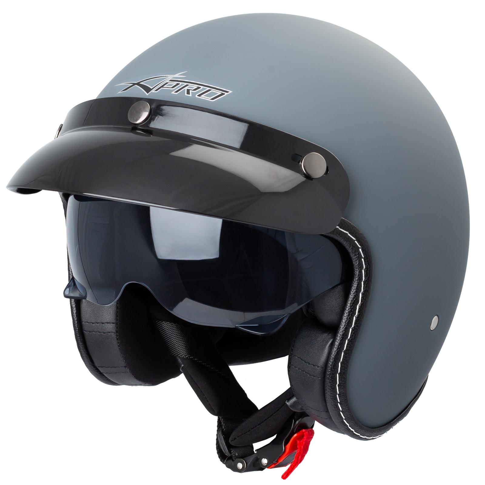 Casco-Moto-Jet-Cafe-Racer-Omologato-ECE-22-05-Parasole-scooter miniatuur 25