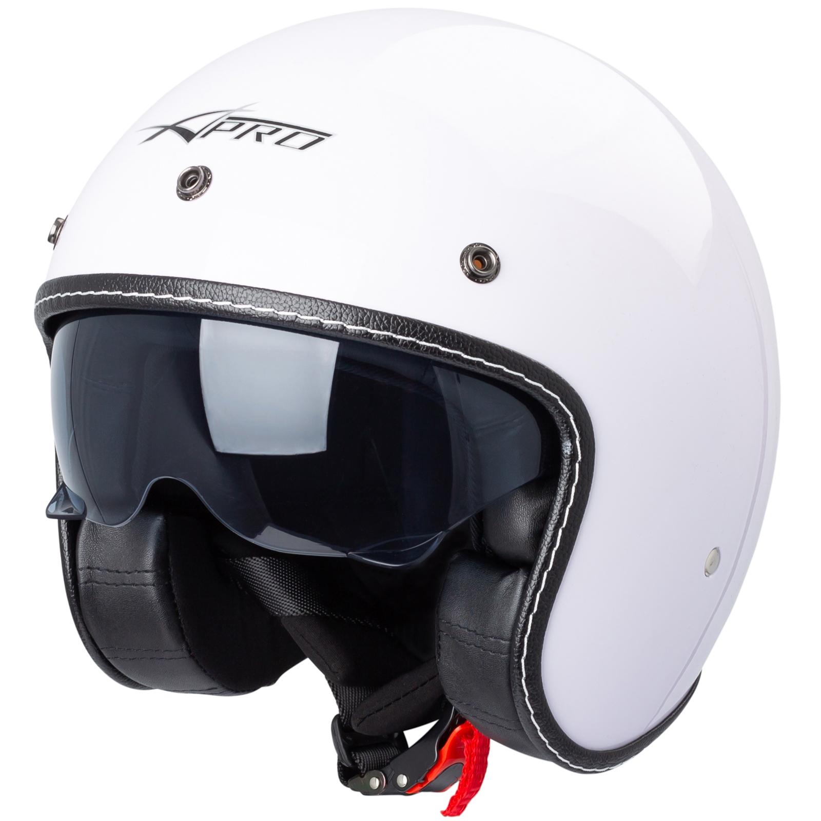 Jet Helmet Cafe Racer Open Face Motorbike SunVisor Custom Scooter
