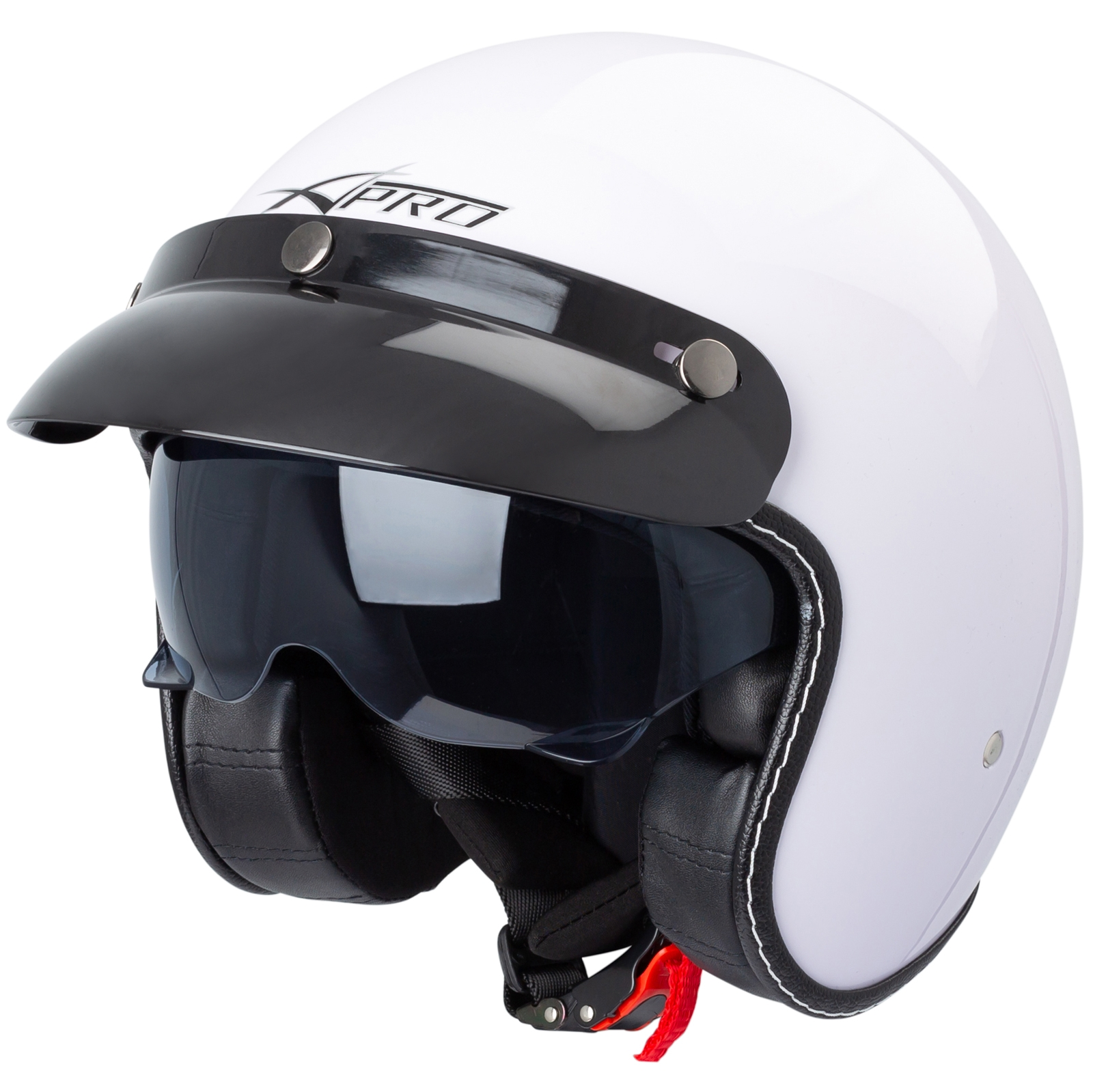 Casco-Moto-Jet-Cafe-Racer-Omologato-ECE-22-05-Parasole-scooter miniatuur 33