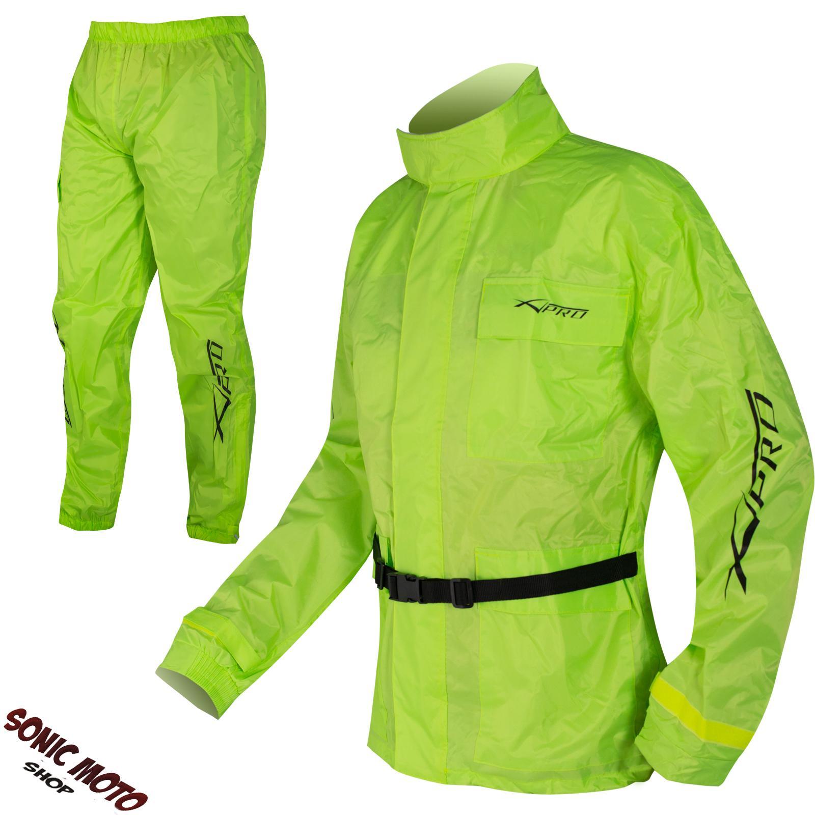 Motorcycle-Motorbike-Rain-Over-Suit-2-pc-Waterproof-Scooter-Hi-Vis-Sonicmoto