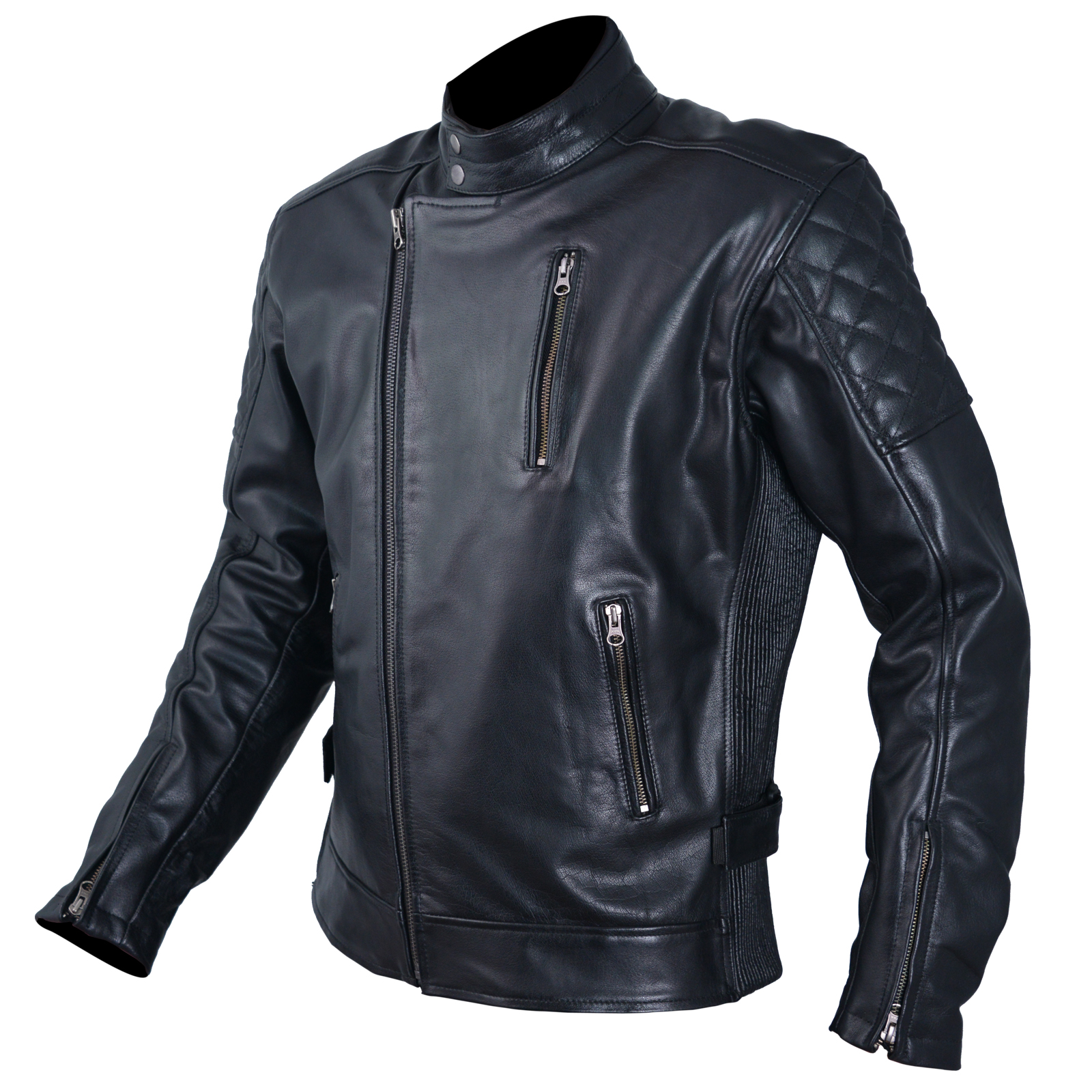 blouson cuir homme moto protections ce veste vintage. Black Bedroom Furniture Sets. Home Design Ideas