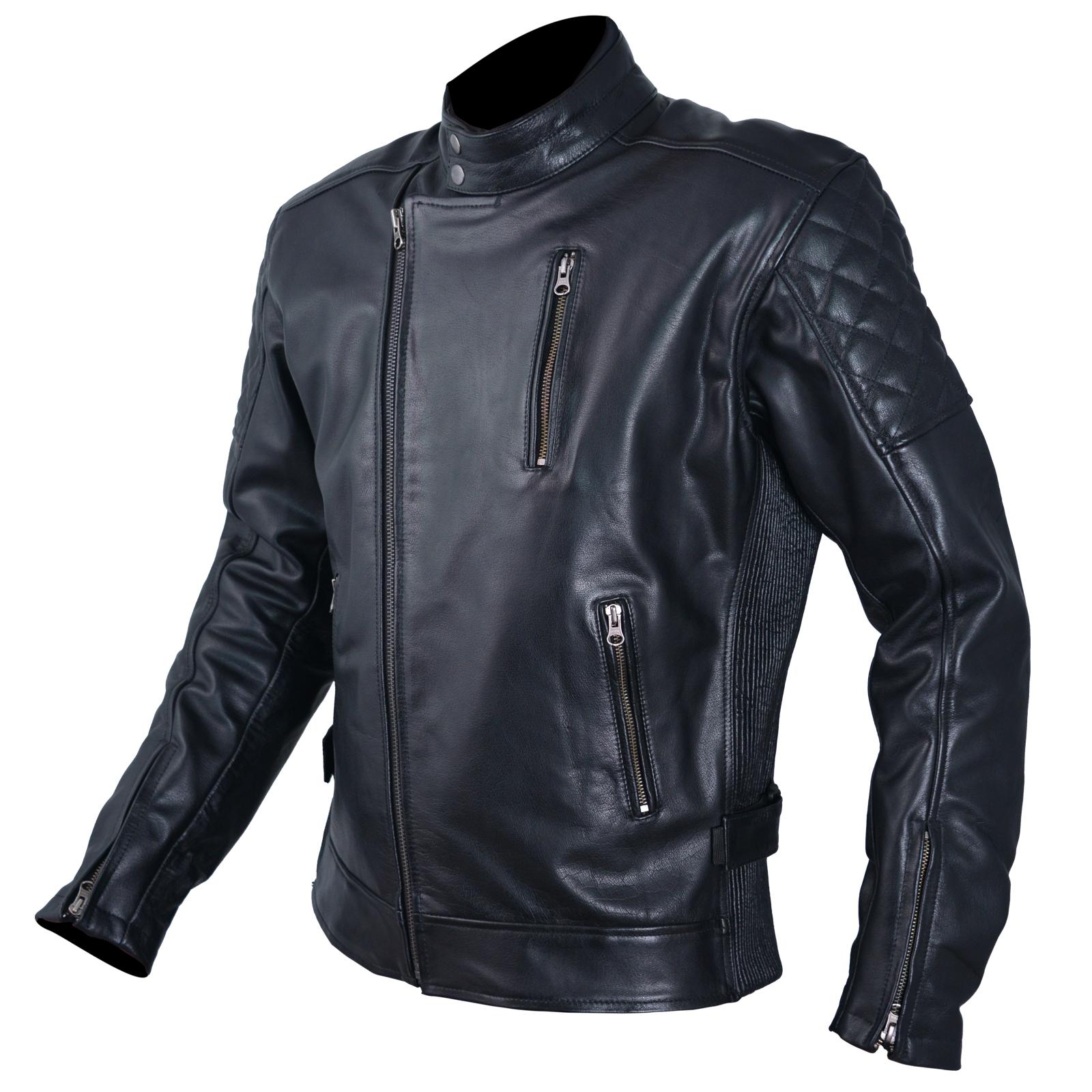 blouson cuir homme moto protections ce veste vintage thermique l ebay. Black Bedroom Furniture Sets. Home Design Ideas