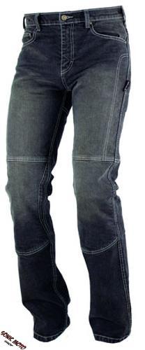 Jeans-100-Coton-Moto-Pantalon-CE-Protections-Renforts-Homme-Noir