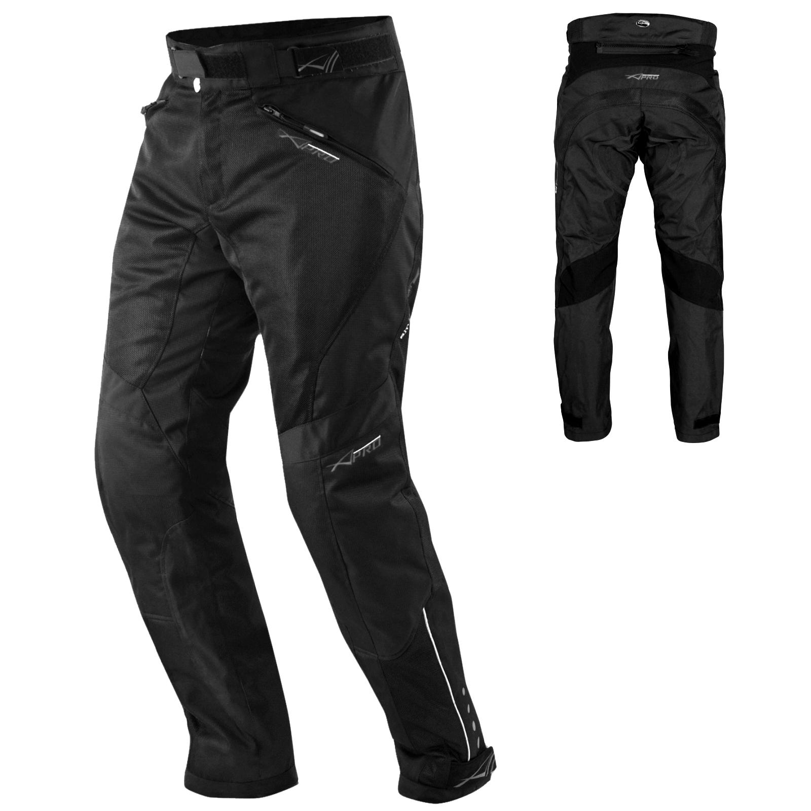 Pantaloni-Mesh-Traforato-Traspirante-Tessuto-Tecnico-Moto-Touring-Donna-Turismo