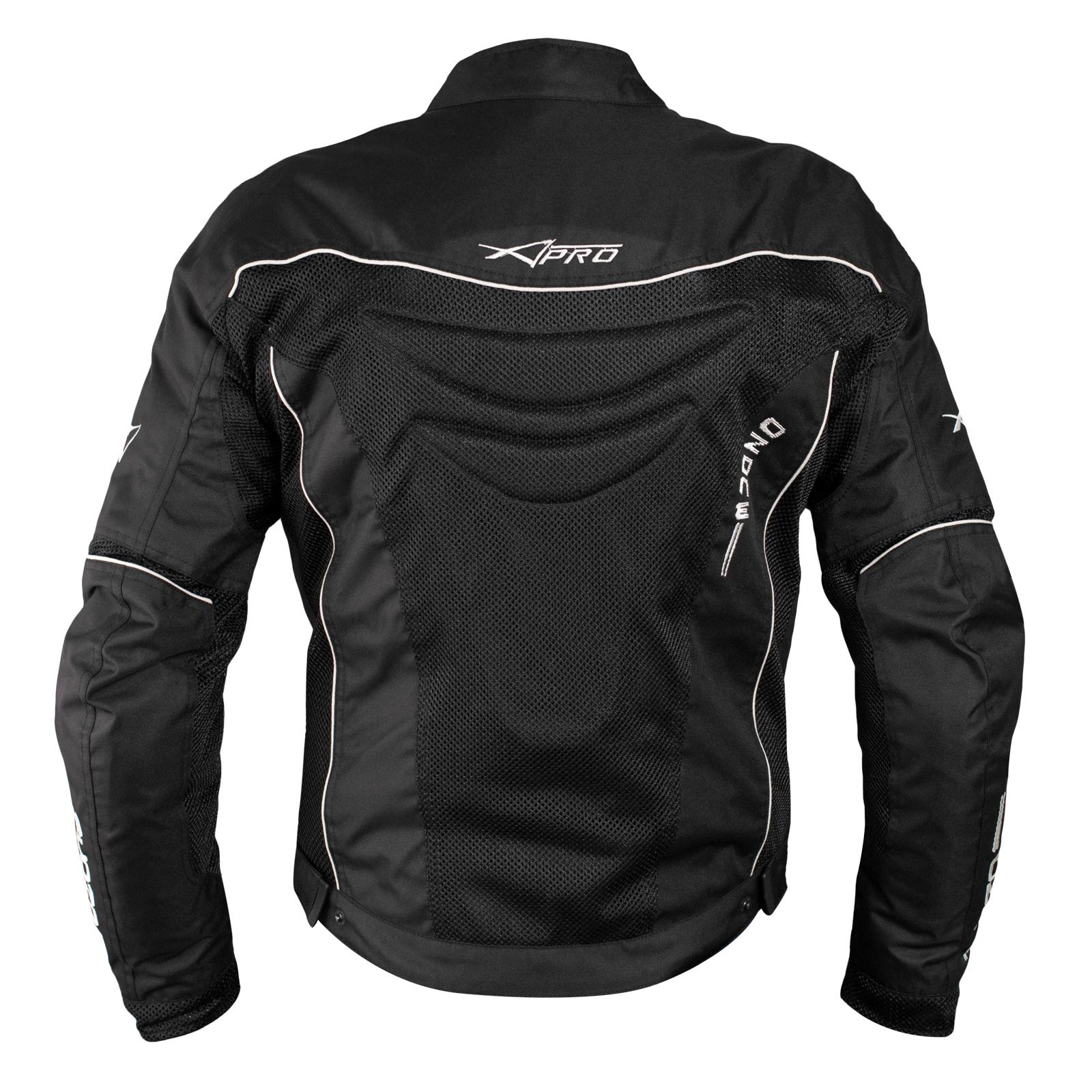 Giacca-Giubbino-Mesh-Traforato-Traspirante-Tessuto-Tecnico-Moto-Sport-Nero miniatuur 6