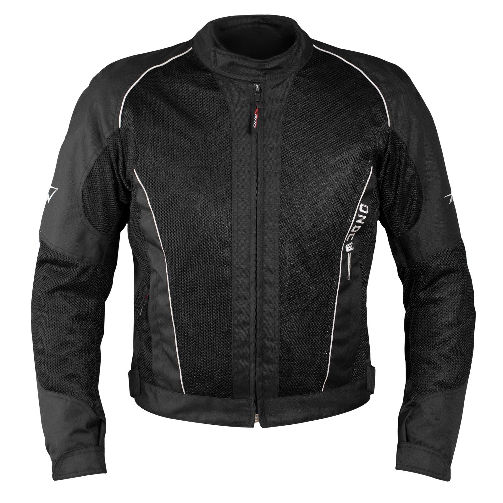 Giacca-Giubbino-Mesh-Traforato-Traspirante-Tessuto-Tecnico-Moto-Sport-Nero miniatuur 5