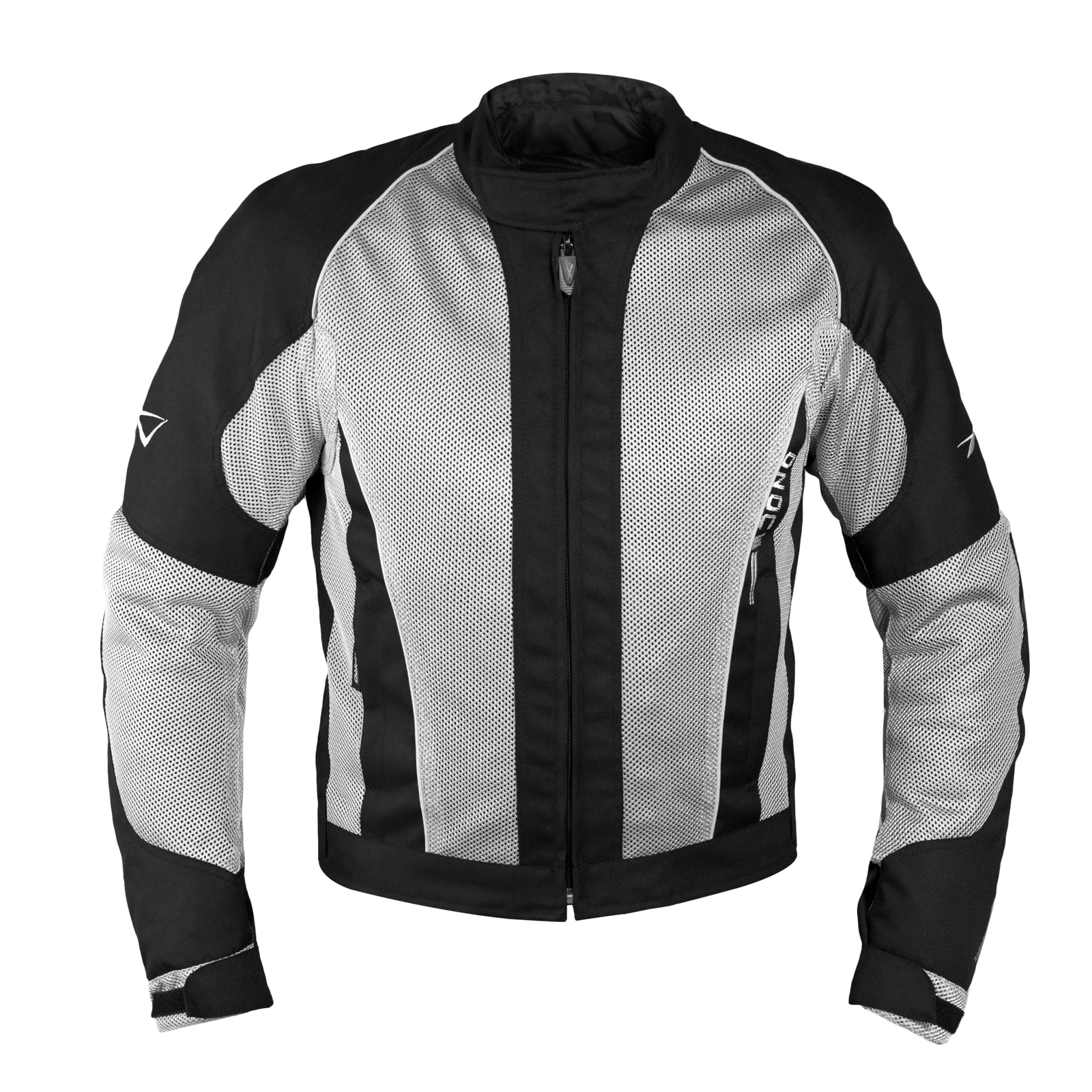 Giacca-Giubbino-Mesh-Traforato-Traspirante-Tessuto-Tecnico-Moto-Sport-Grigio