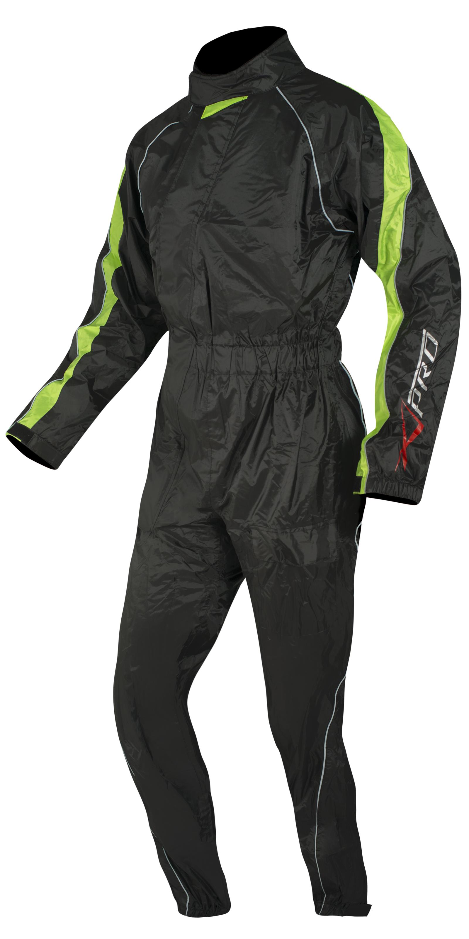 Tuta-100-Impermeabile-Completo-Anti-Pioggia-Moto-Scooter-Antiacqua-Unisex miniatura 7