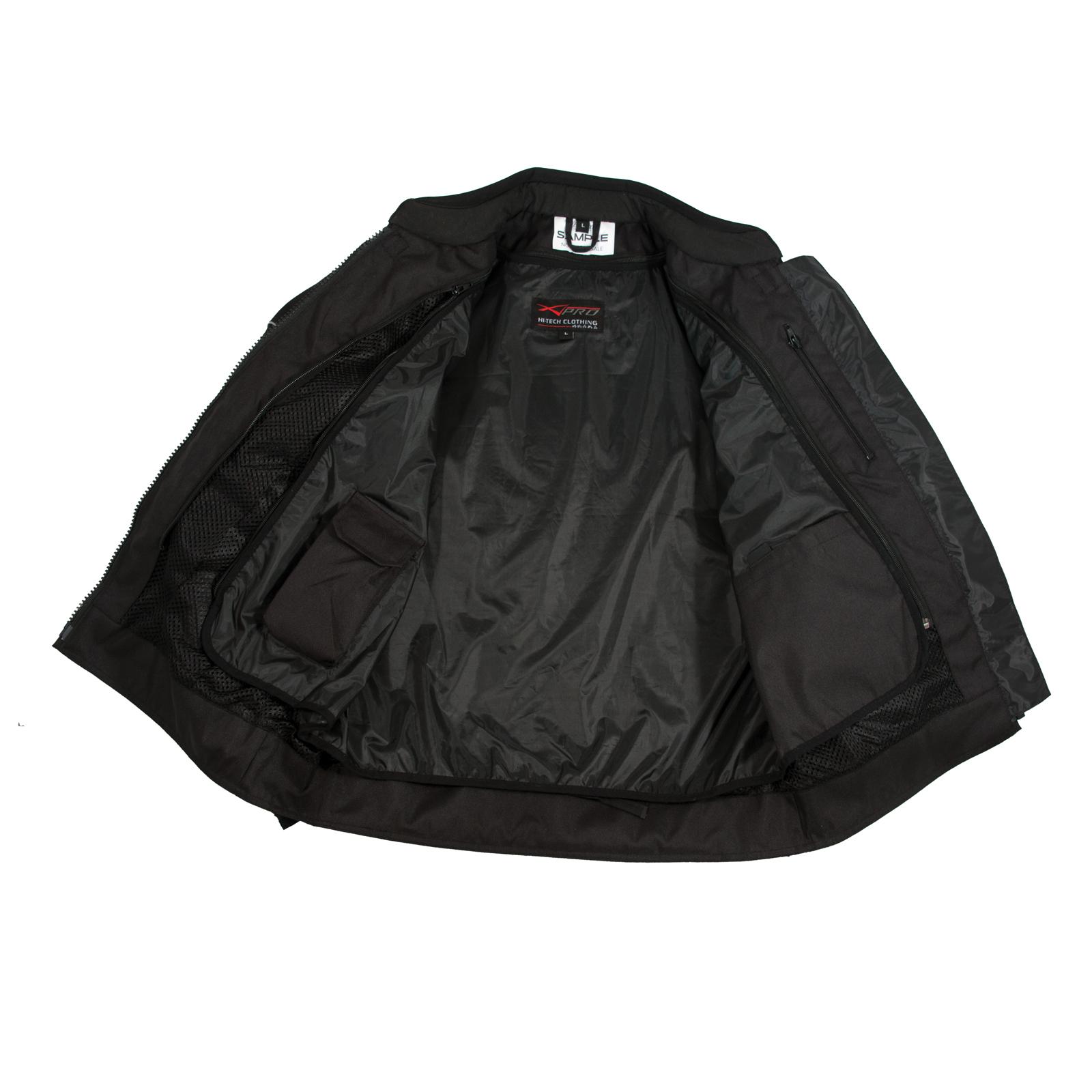 Donna-Giacca-Moto-Tessuto-Impermeabile-Traspirante-Riflettente-Bianco
