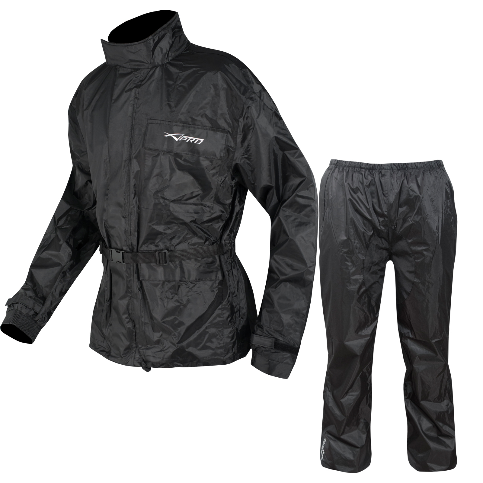 combinaison textile impermeable anti pluie blouson pantalon moto motard touring ebay. Black Bedroom Furniture Sets. Home Design Ideas