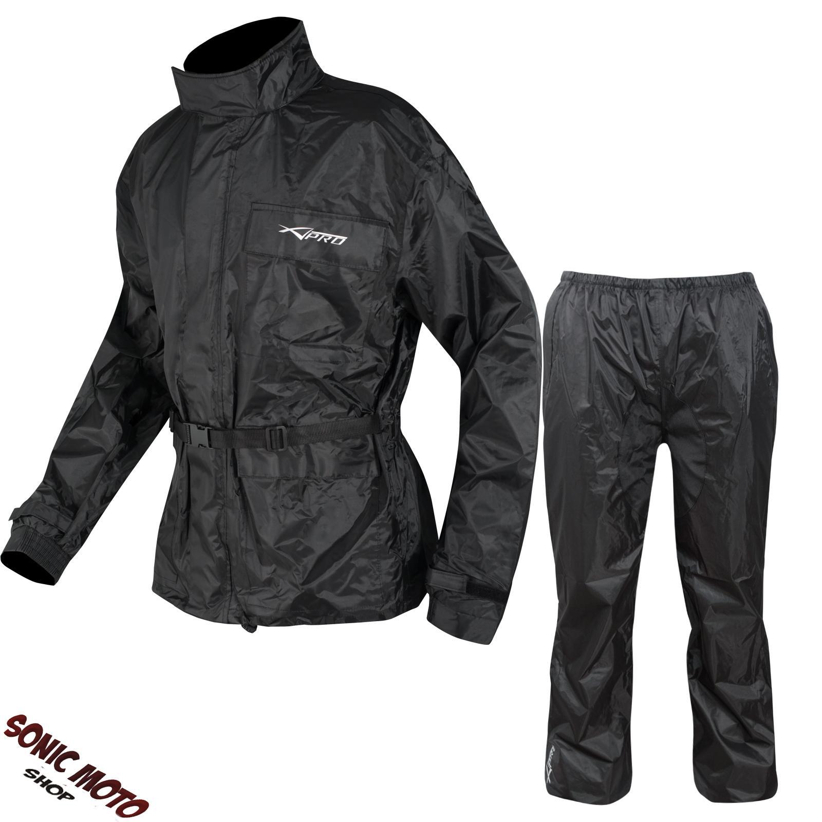 combinaison textile impermeable anti pluie blouson pantalon moto motard touring ebay. Black Bedroom Furniture Sets. Home Design Ideas