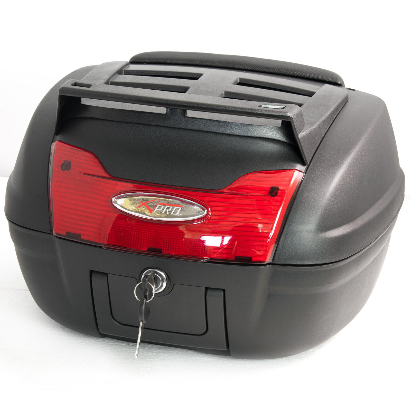 top case box 40 lt universal rack motorcycle motorbike scooter luggage quad ebay. Black Bedroom Furniture Sets. Home Design Ideas