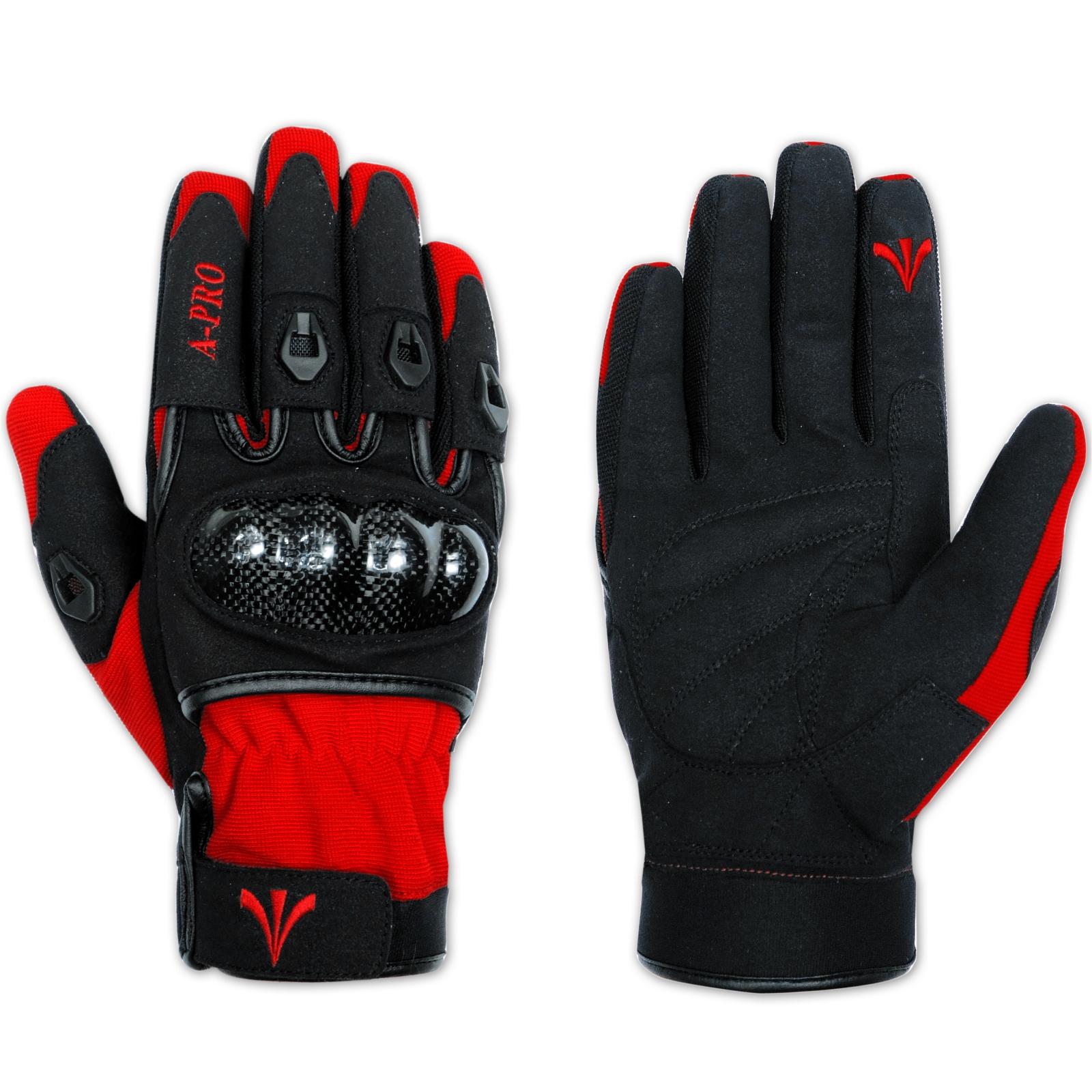 Moto-Guantes-Tela-Protectores-Carbono-Tejido-Tecnico-Transpirable-Sport