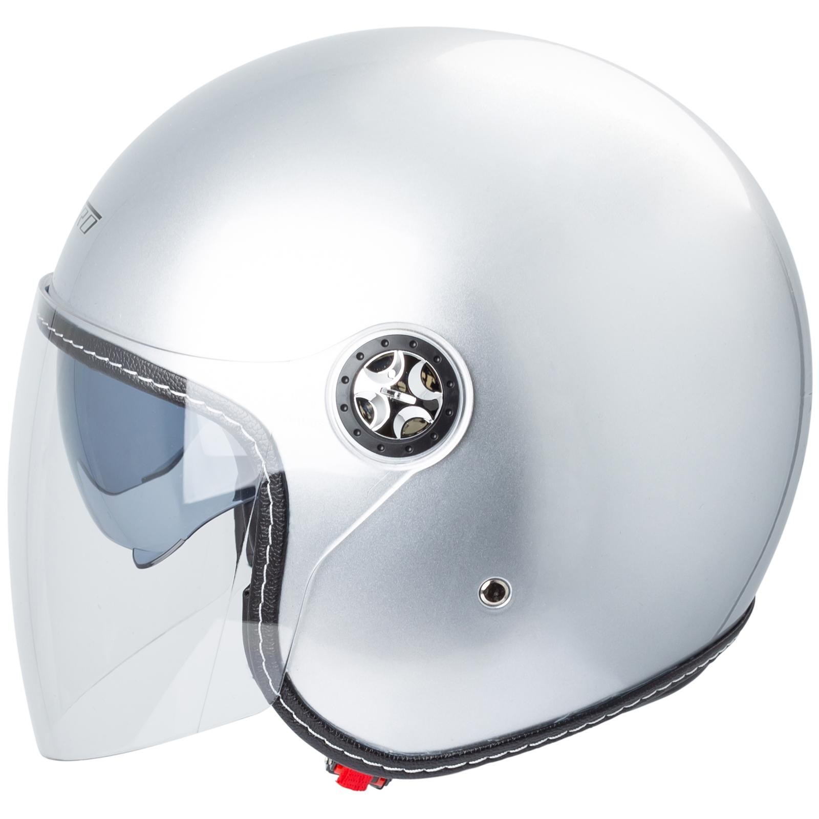 miniatura 31 - Casco Moto Jet City Retrò Omologato ECE 22-05 Doppia Visiera scooter
