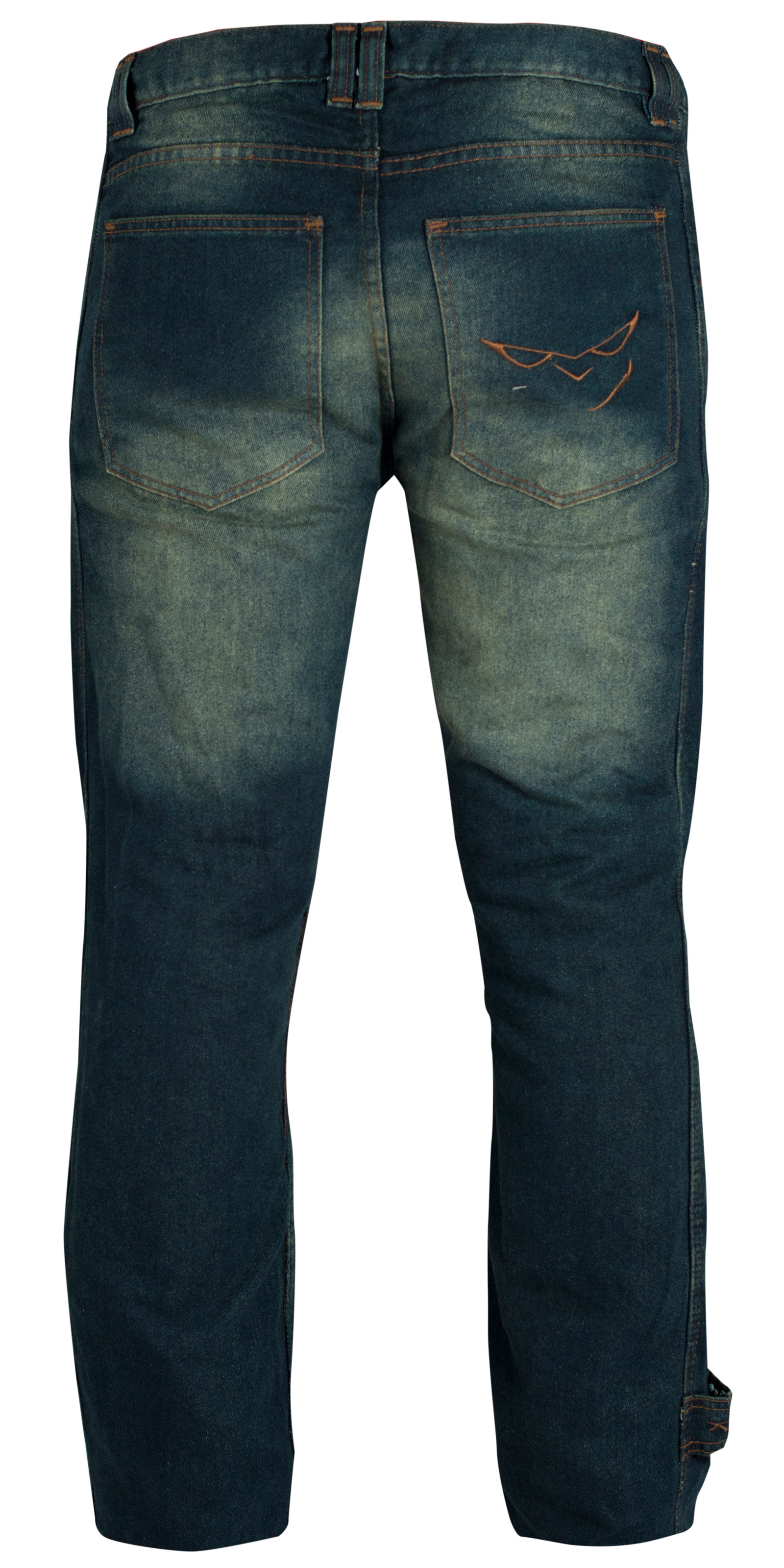 Pantalon-Jeans-Denim-Renforts-Protections-CE-Coton-100-Homme-Sport-Bleu miniature 7