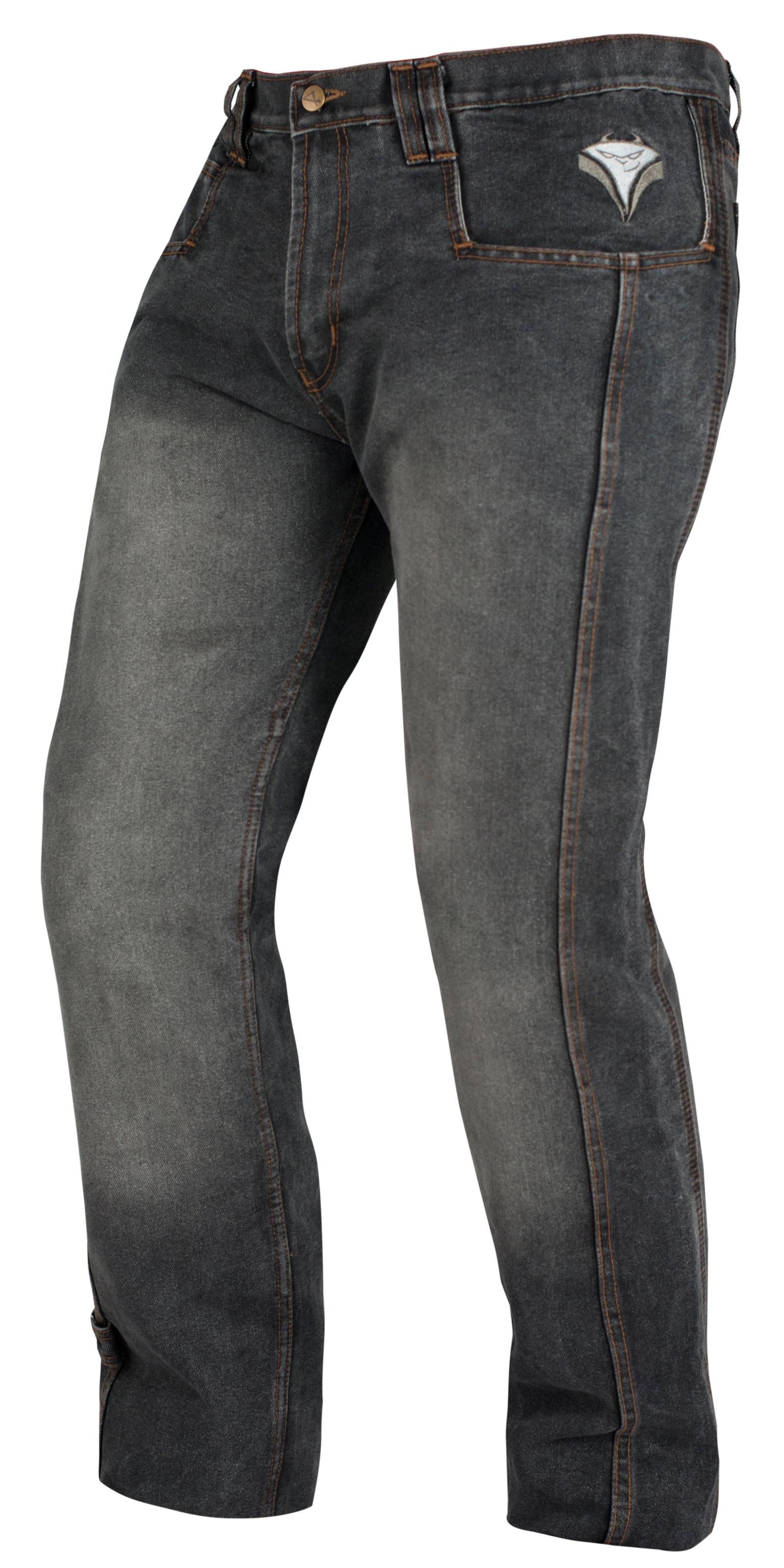 Pantalon-Jeans-Denim-Renforts-Protections-CE-Coton-100-Homme-Sport-Noir miniature 6