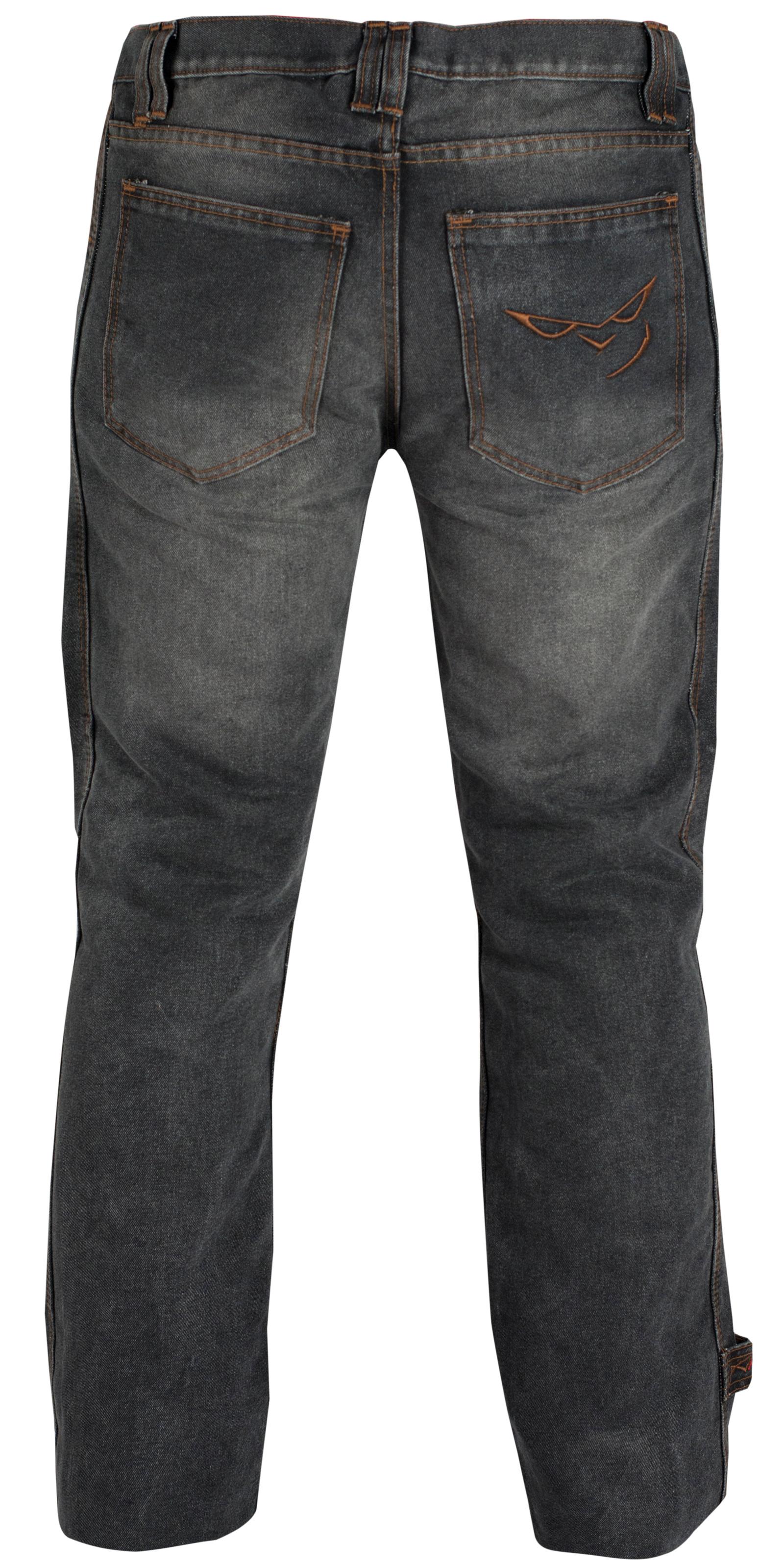Pantalon-Jeans-Denim-Renforts-Protections-CE-Coton-100-Homme-Sport-Noir miniature 7
