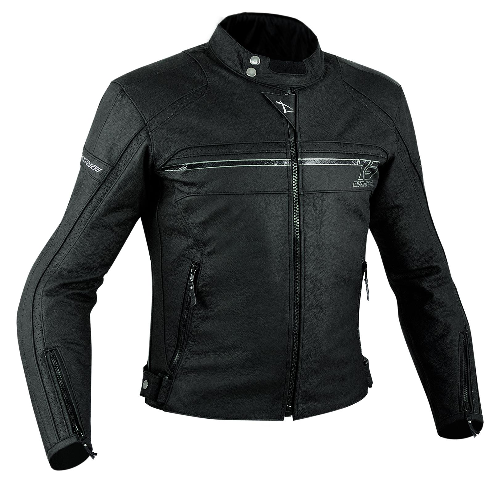 Sport-Giacca-Pelle-Moto-Naked-Custom-Protezioni-Omologate-CE-Rinforzo-Schiena