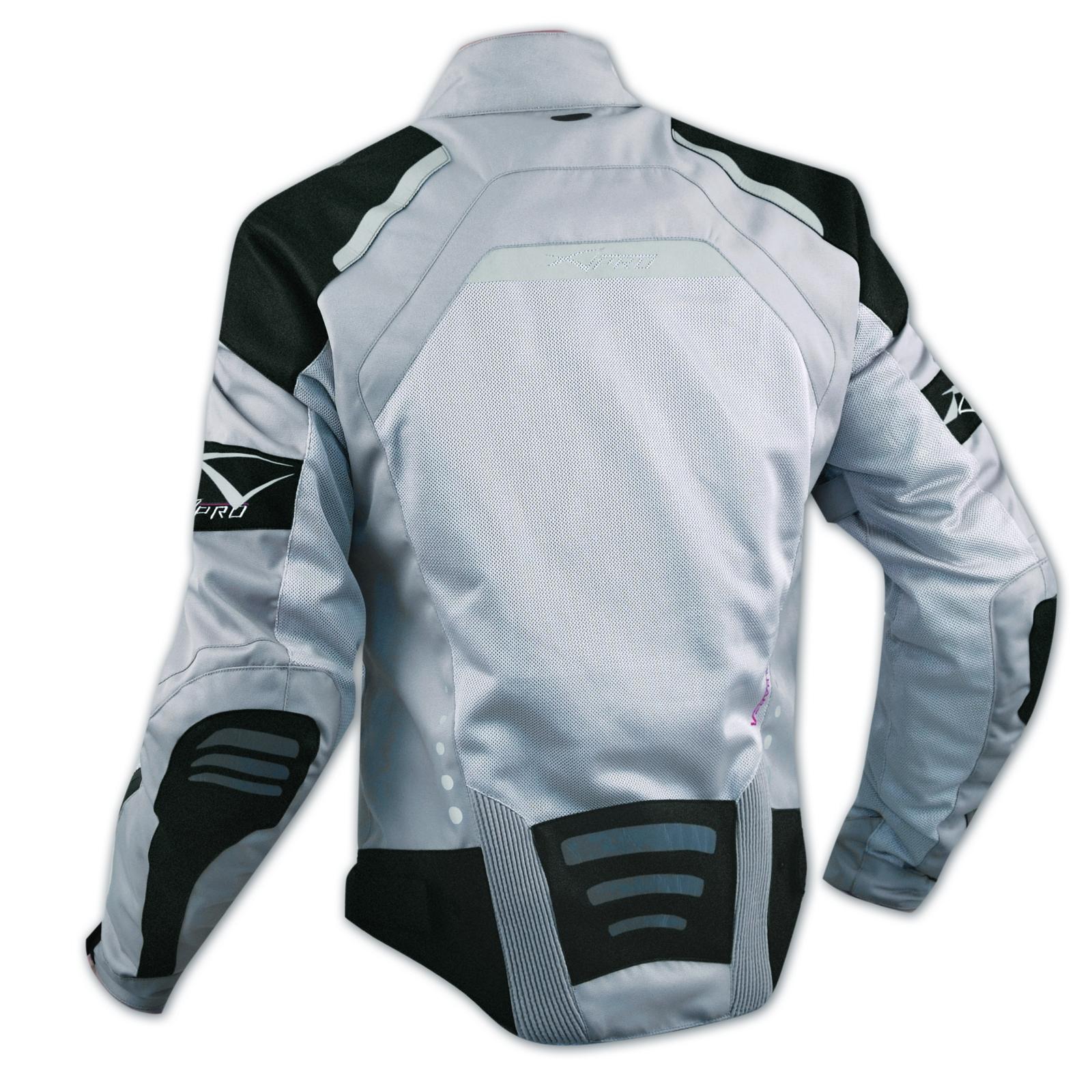 Giacca-Moto-Tessuto-Cordura-Mesh-Rete-Traforata-Protezioni-CE-Omologate-Grigio miniatura 5