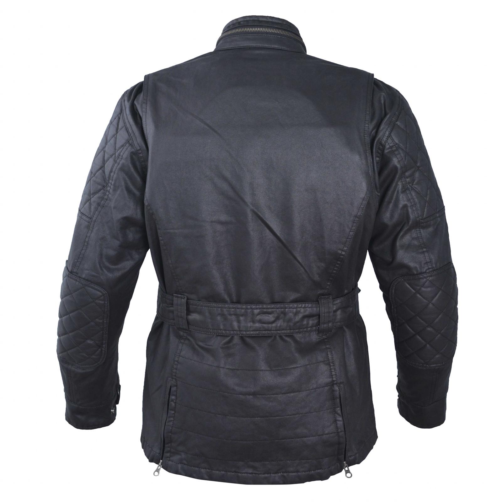 textile blouson femme coton cir moto sport scooter protections noir ebay. Black Bedroom Furniture Sets. Home Design Ideas