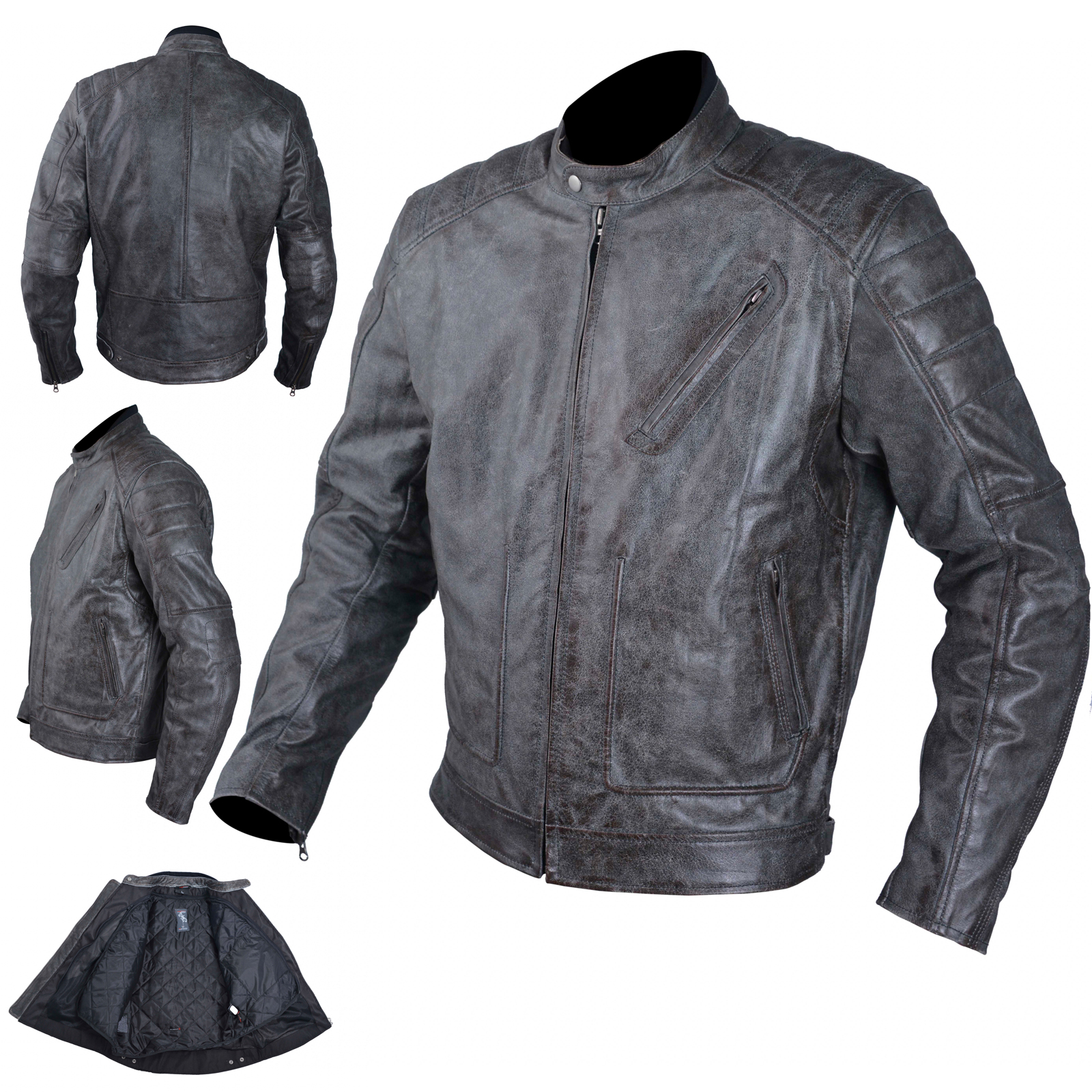blouson cuir moto veste vintage thermique protections ce. Black Bedroom Furniture Sets. Home Design Ideas