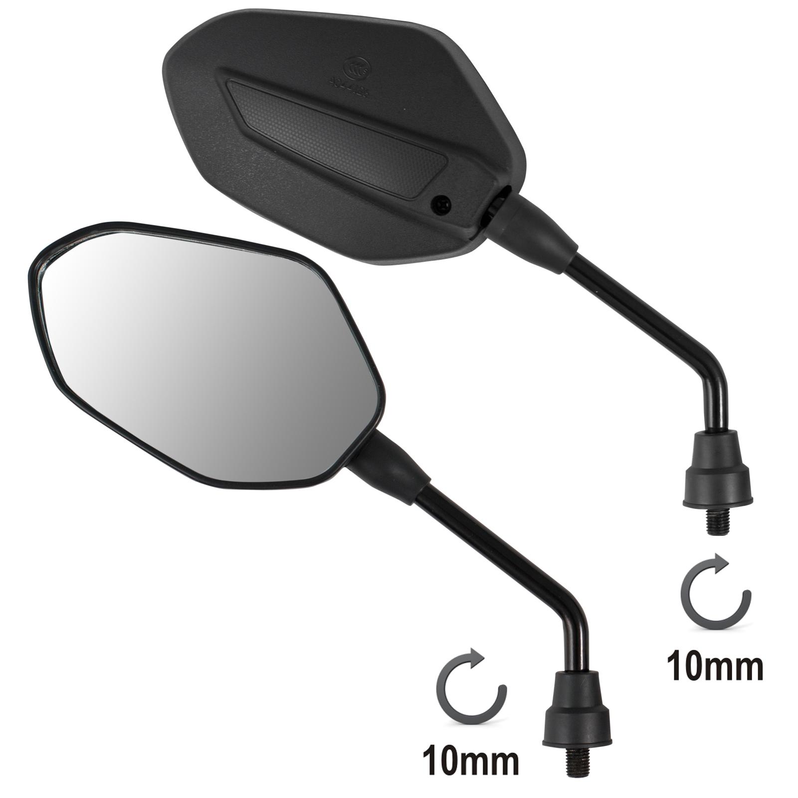 coppia retrovisori specchietti specchi moto scooter nero. Black Bedroom Furniture Sets. Home Design Ideas