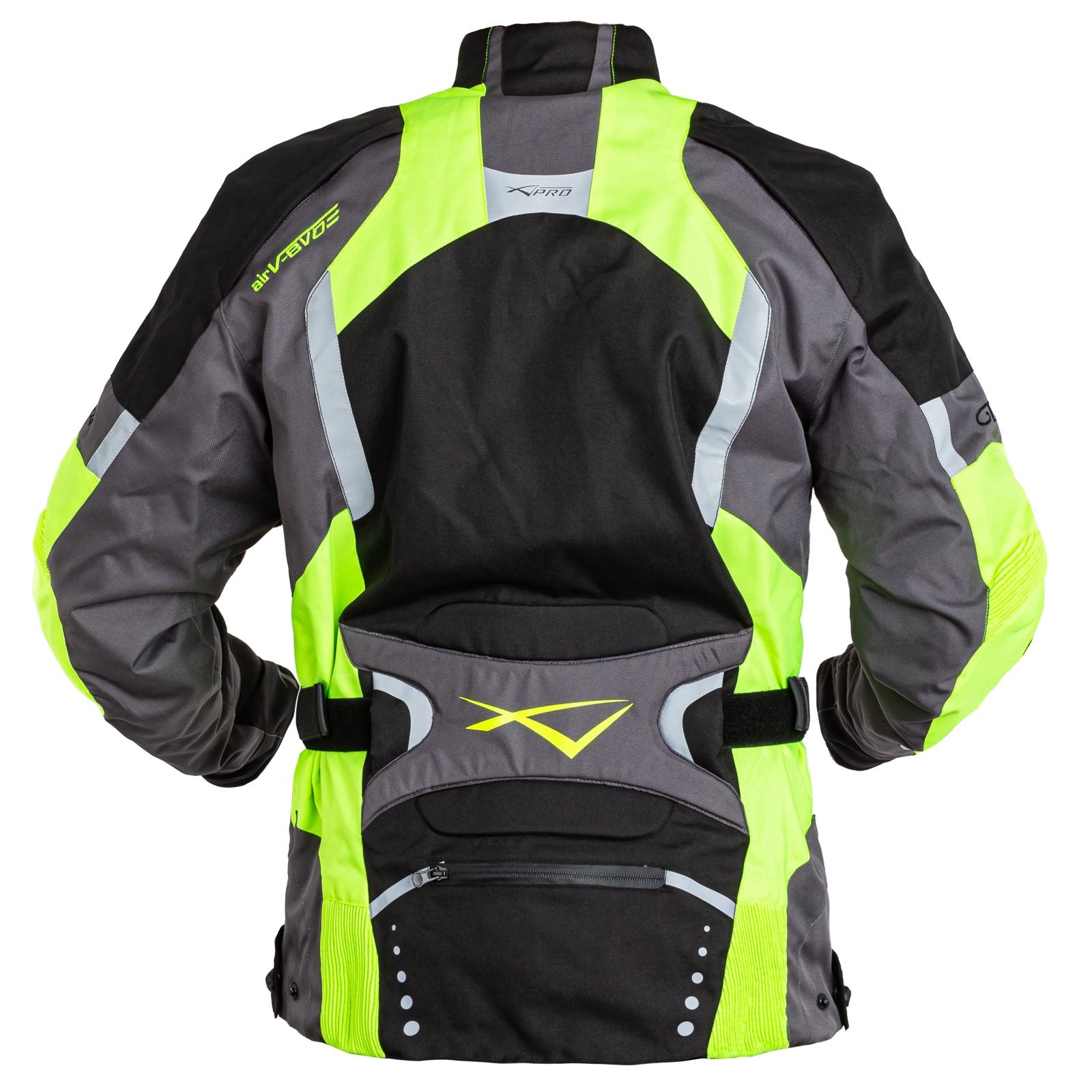 miniatuur 12 - Giacca Touring Moto Cordura Tessuto Protezioni CE Sfoderabile Impermeabile