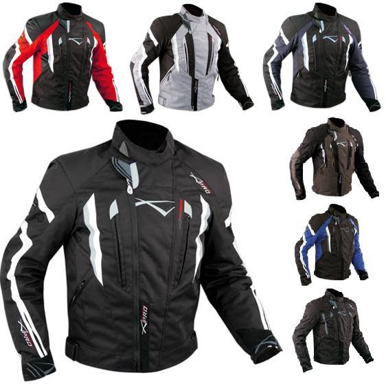 giacca moto in tessuto a pro t53 touring sport nero